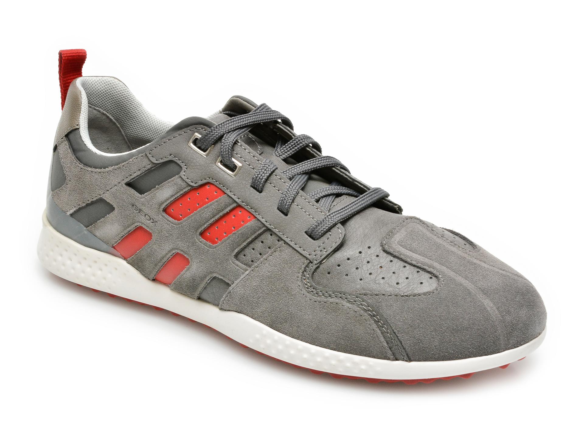Pantofi sport GEOX gri, U048DB, din piele ecologica
