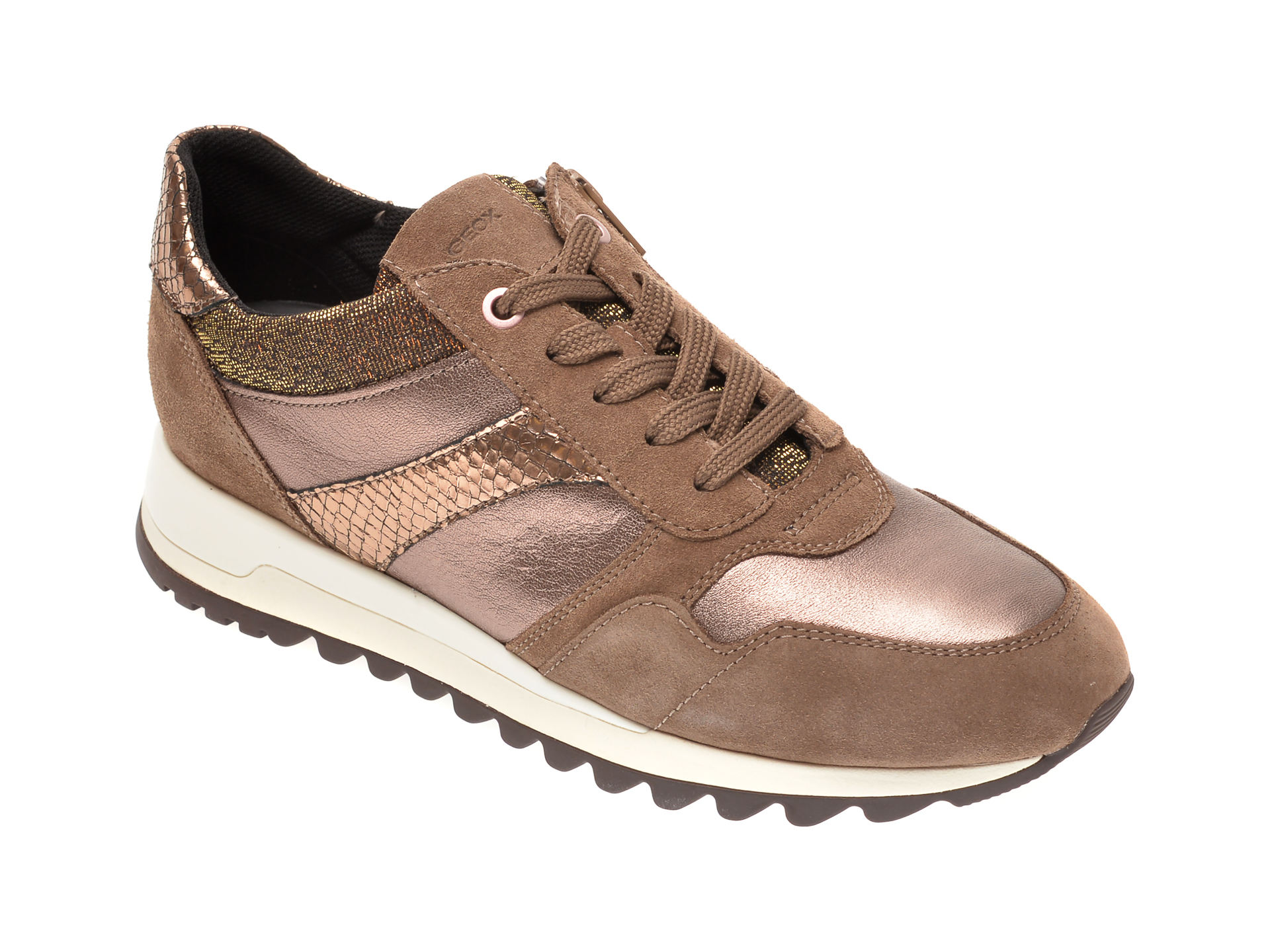 Pantofi sport GEOX maro, D04AQA, din piele naturala