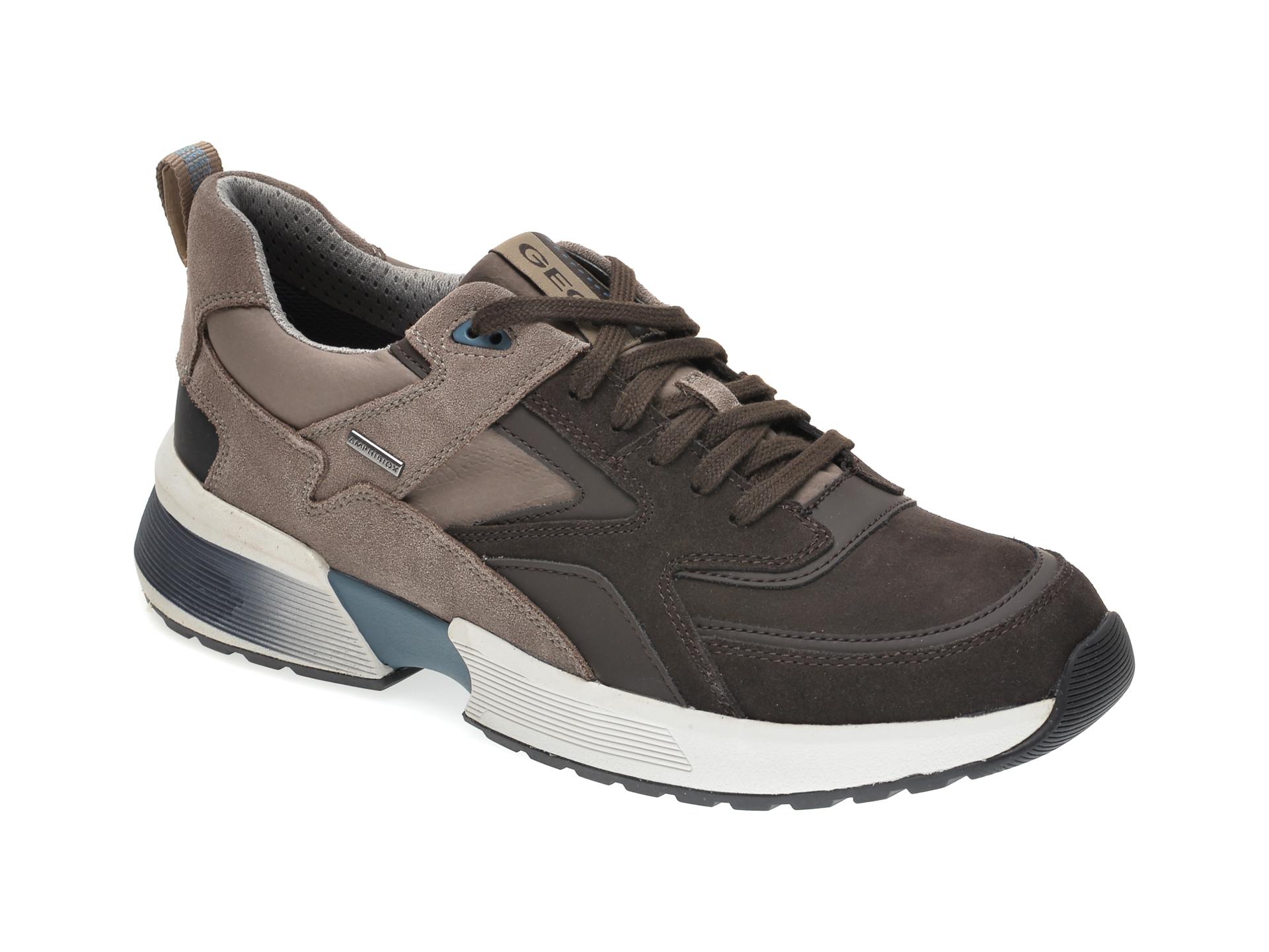 Pantofi sport GEOX maro, U04AUA, din piele intoarsa