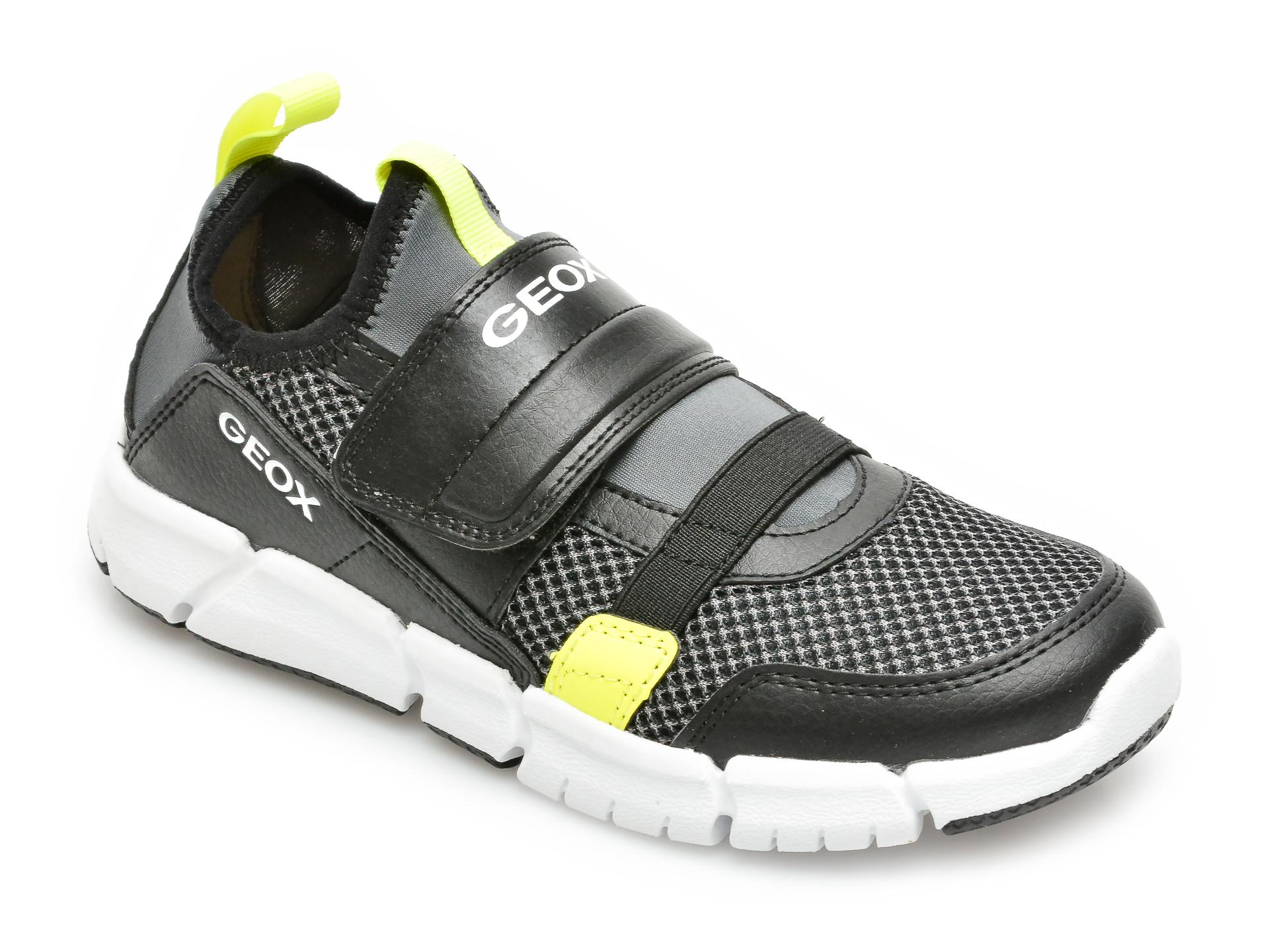 Pantofi sport GEOX negri, U159XA, din piele naturala