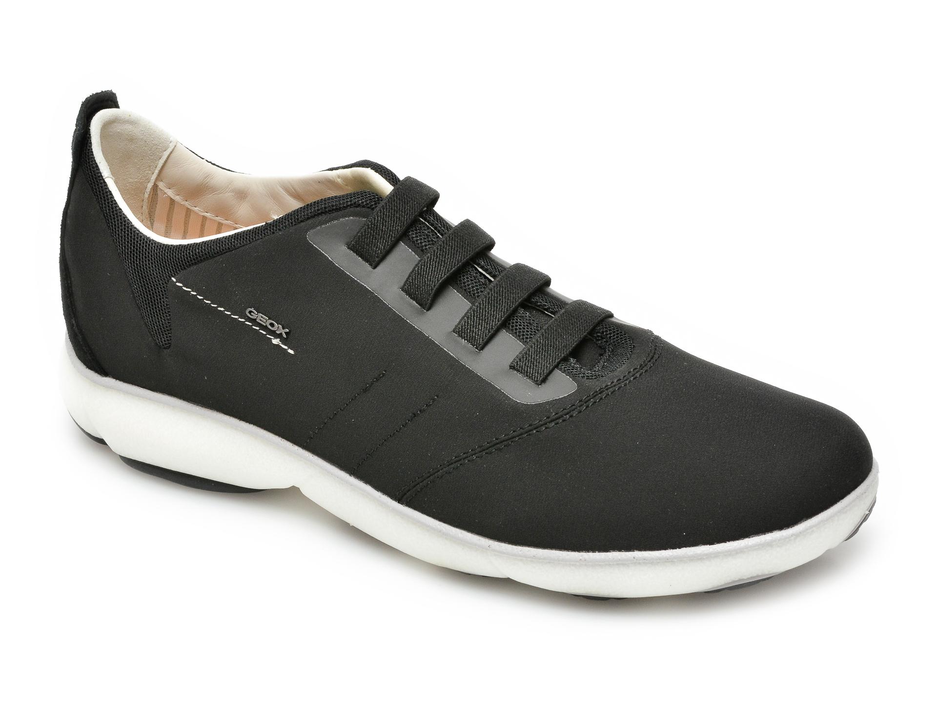 Pantofi sport GEOX negri, U15D7C, din material textil