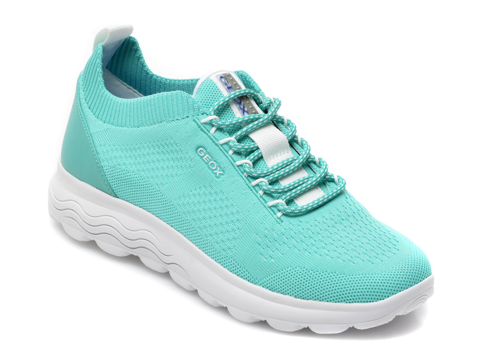 Pantofi sport GEOX verzi, D15NUA, din material textil