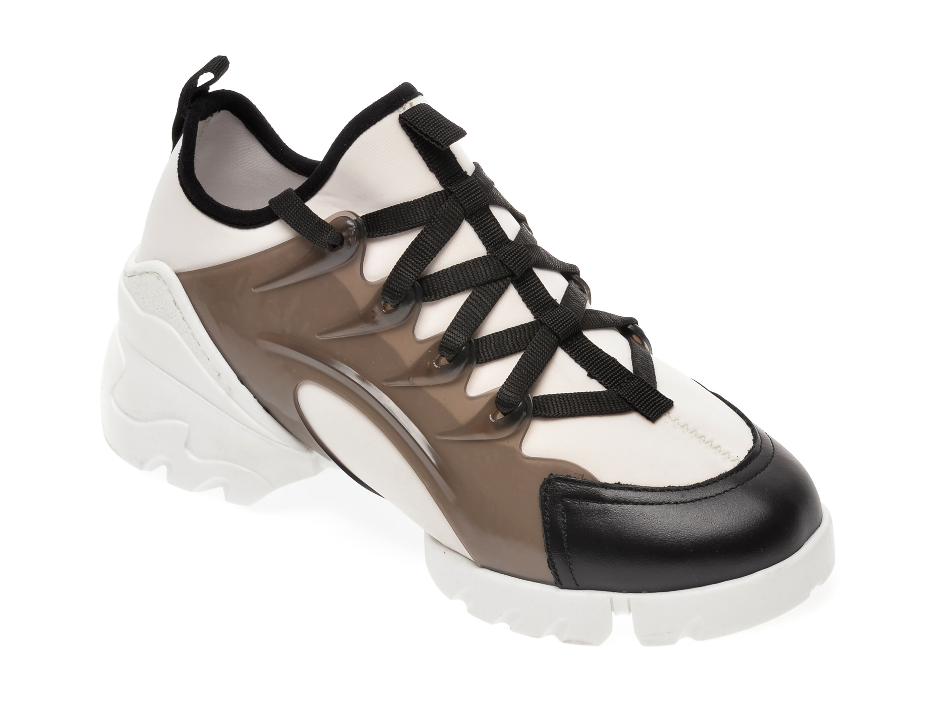 Pantofi sport GRYXX alb-negru, MO1332, din material textil imagine