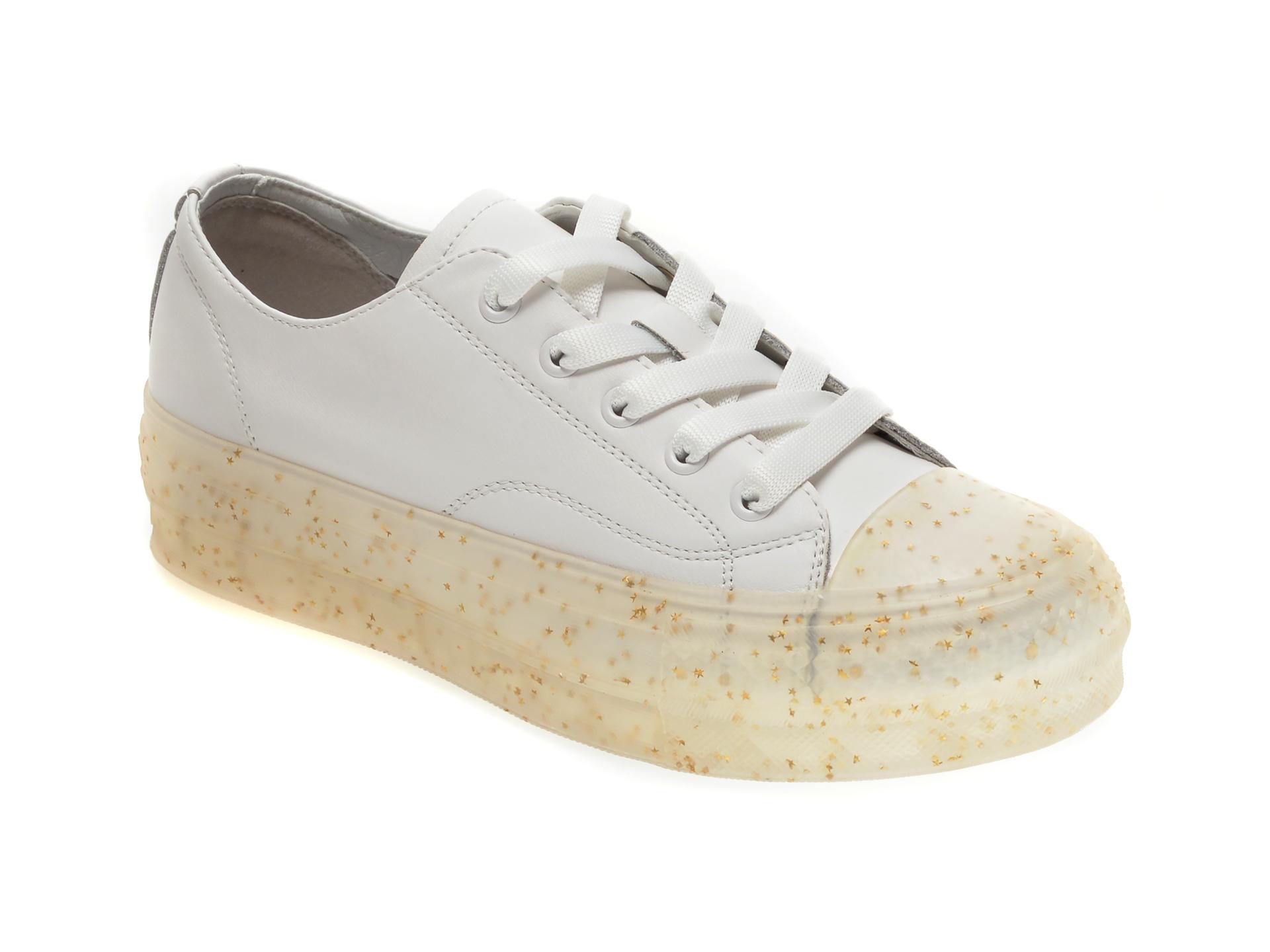 Pantofi sport GRYXX albi, 202061A, din piele naturala imagine