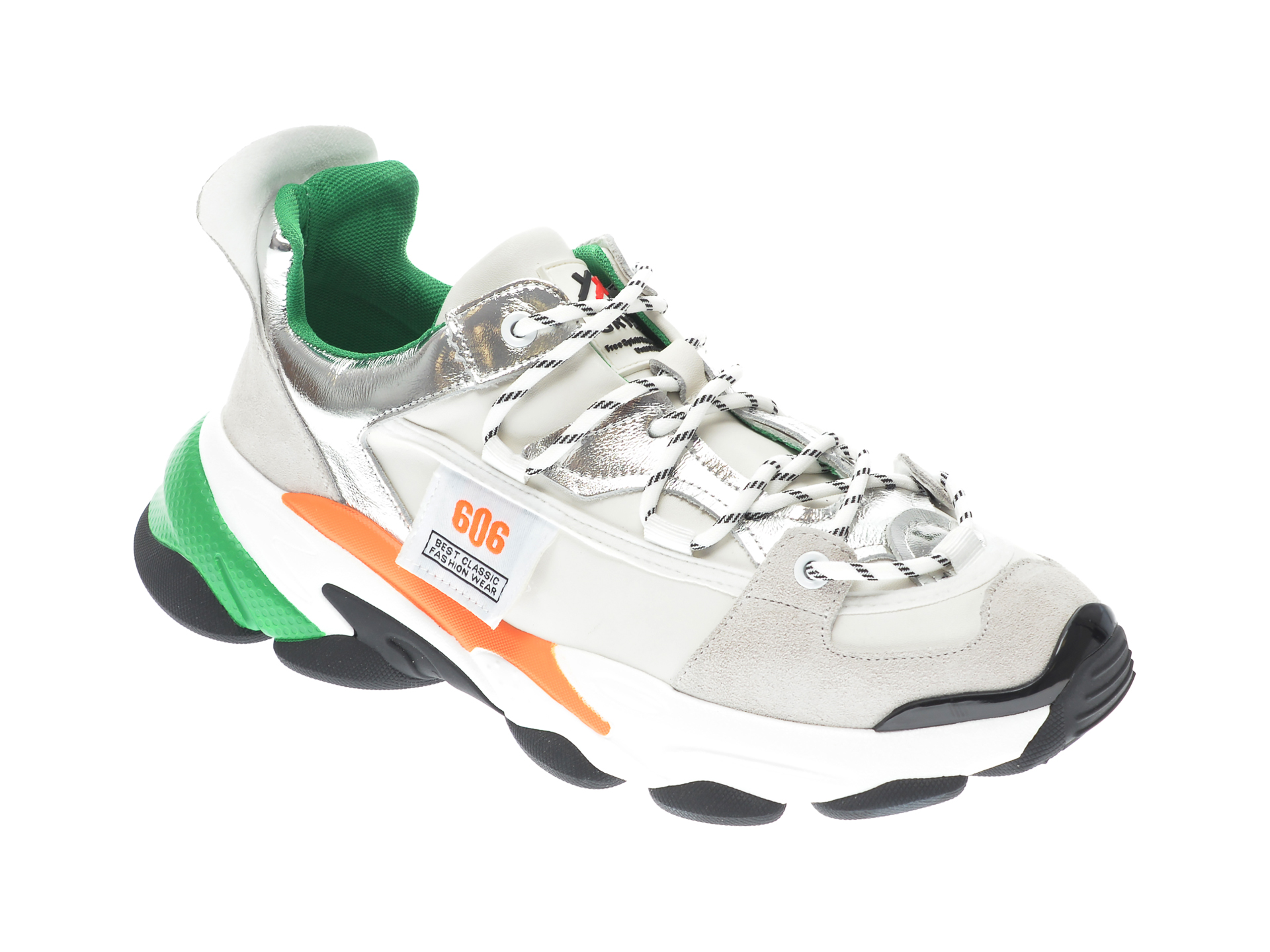 Pantofi sport GRYXX albi, 207262, din piele naturala imagine