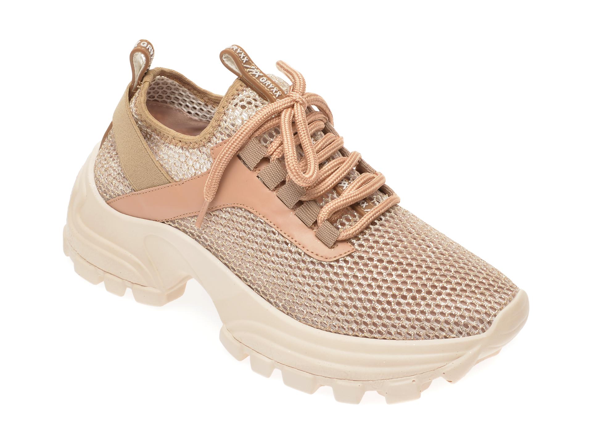 Pantofi sport GRYXX aurii, MO1245, din material textil imagine