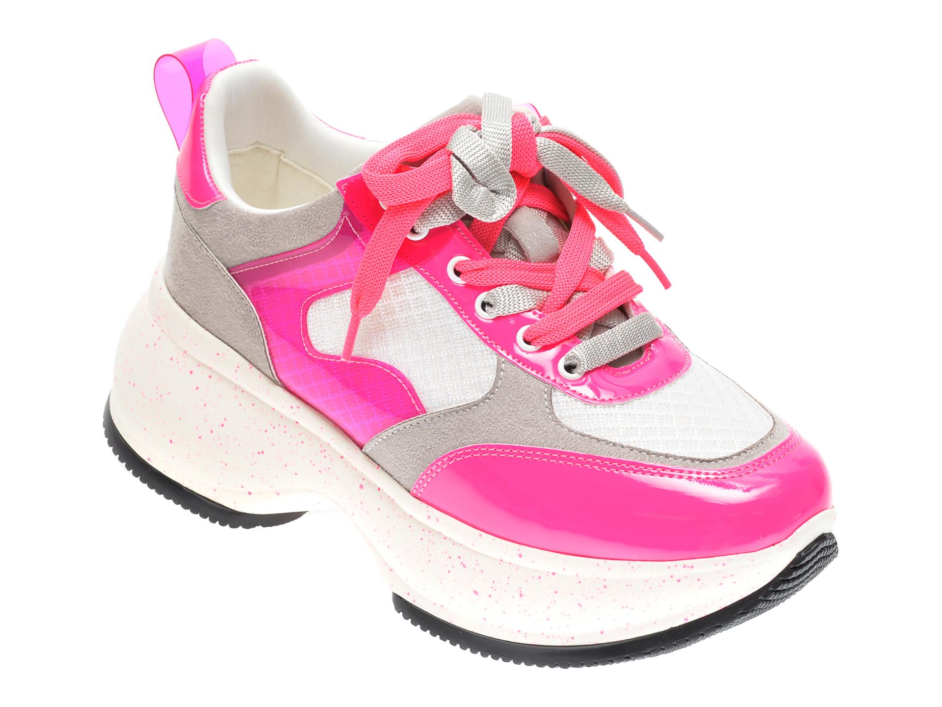 Pantofi sport GRYXX fucsia, M01041, din material textil si piele naturala imagine