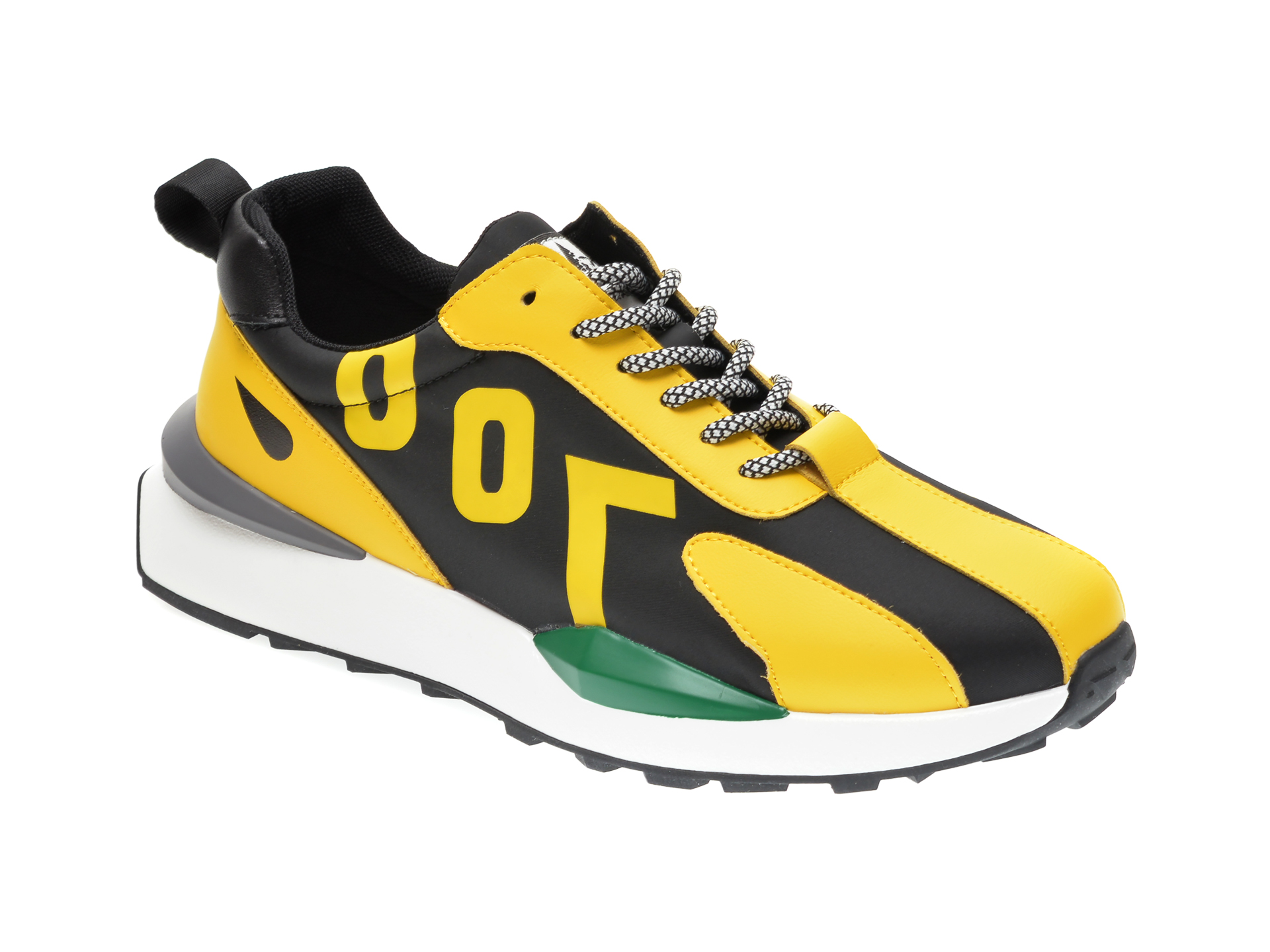 Pantofi sport GRYXX galbeni, B007, din material textil si piele ecologica imagine