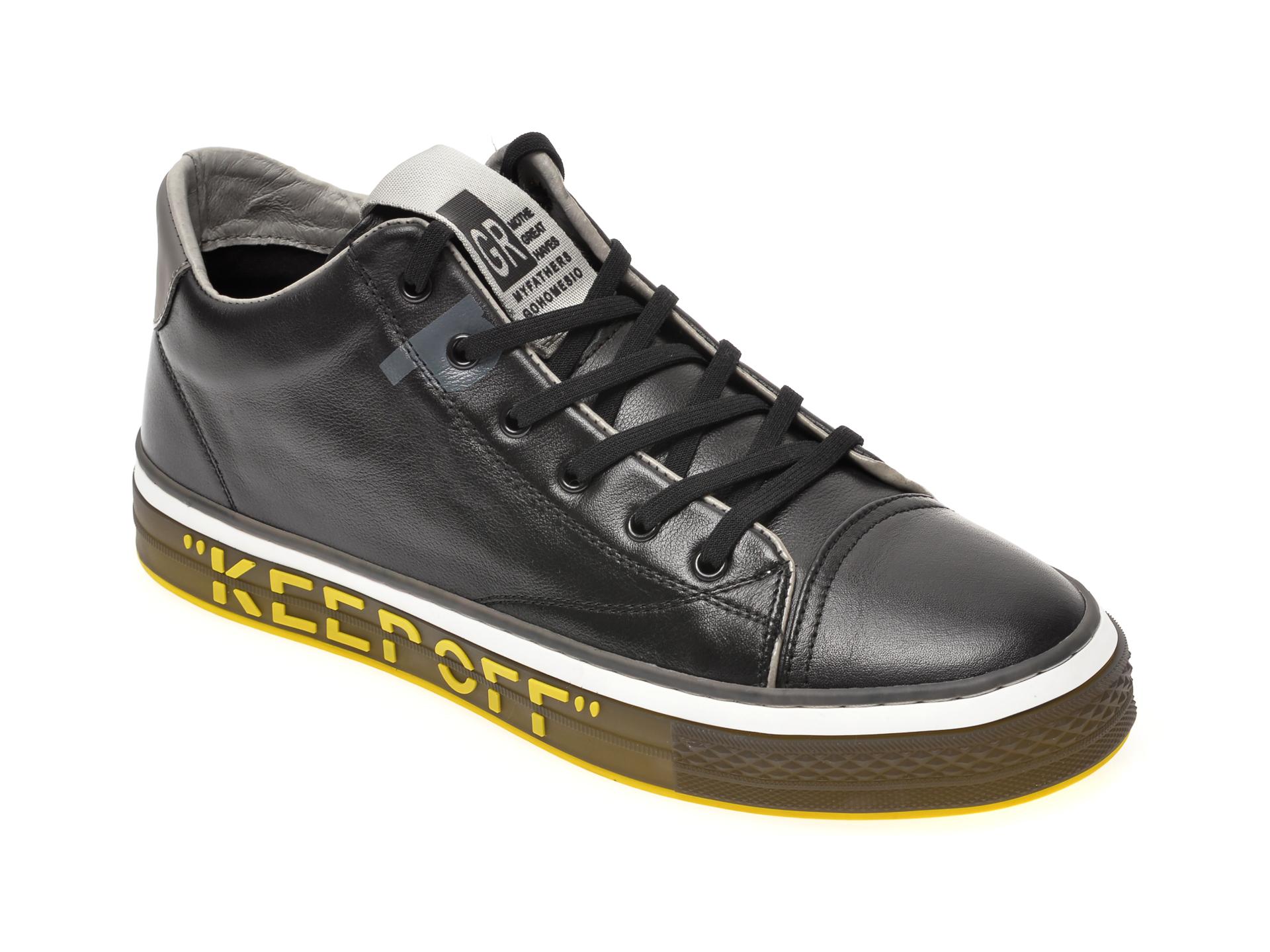 Pantofi sport GRYXX negri, 52098, din piele naturala imagine