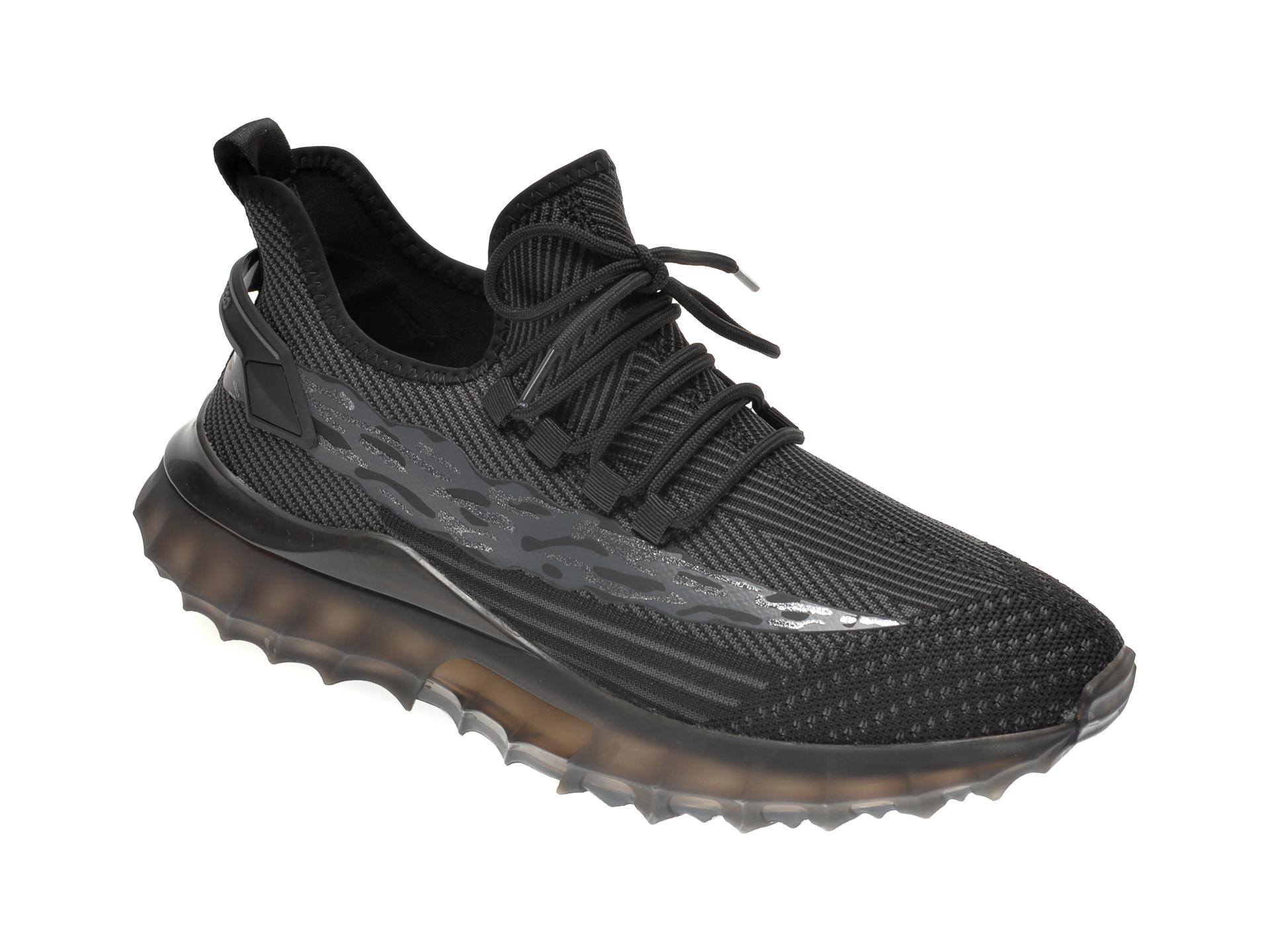 Pantofi sport GRYXX negri, K30351, din material textil imagine