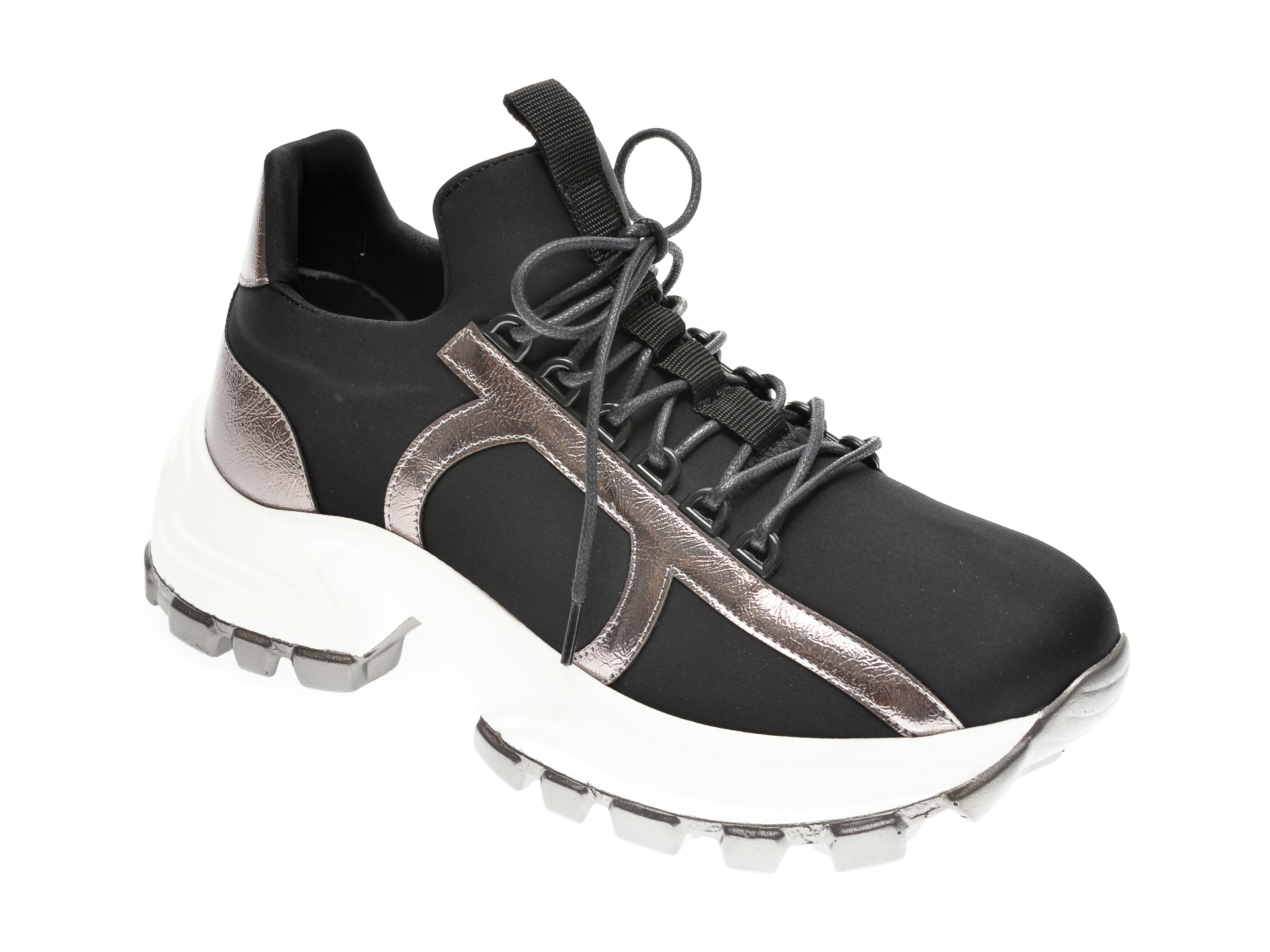 Pantofi sport GRYXX negri, MO12453, din material textil imagine
