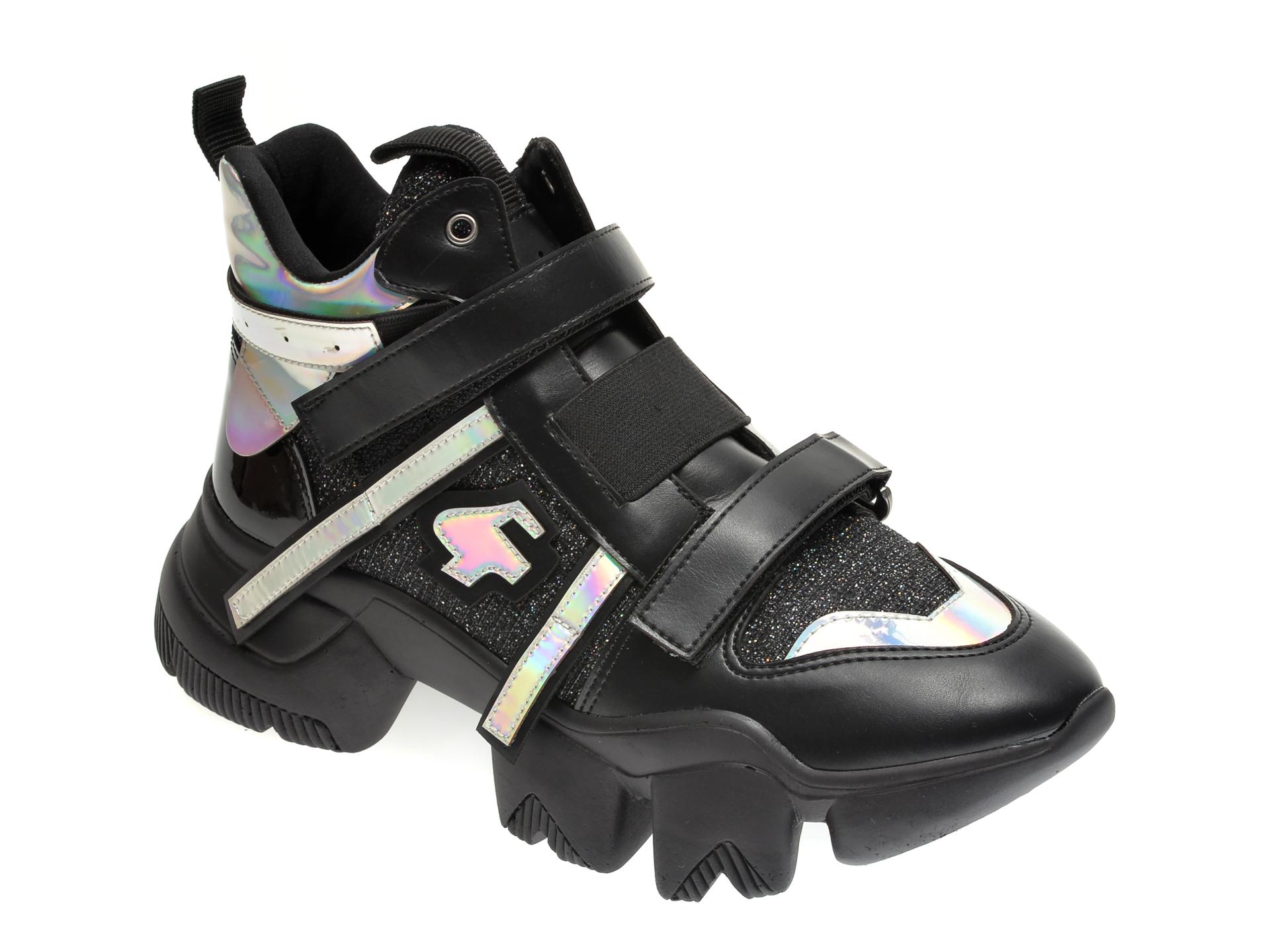 Pantofi sport GRYXX negri, MO99B51, din material textil si piele ecologica imagine