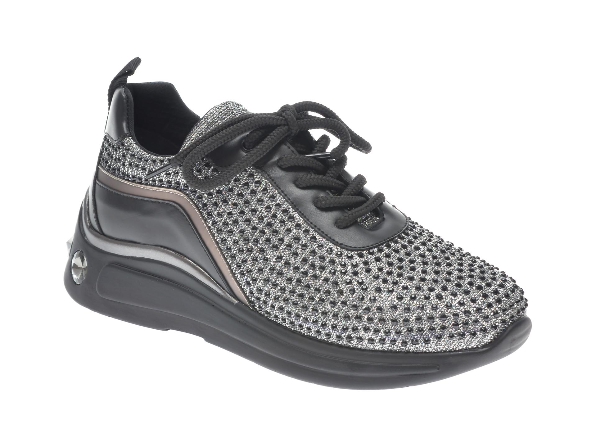 Pantofi sport GRYXX negri, P456, din material textil imagine