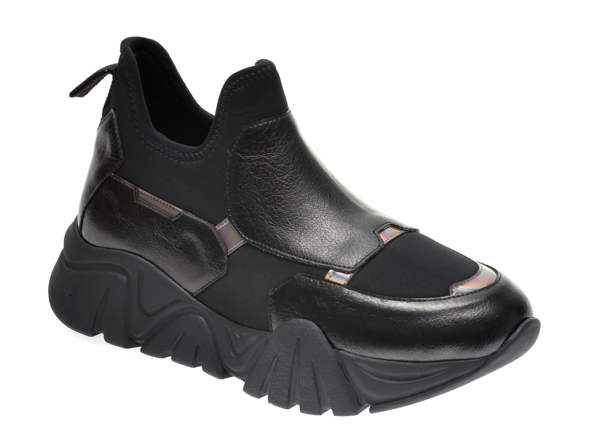 Pantofi Sport Gryxx Negri, T953, Din Material Textil Si Piele Ecologica