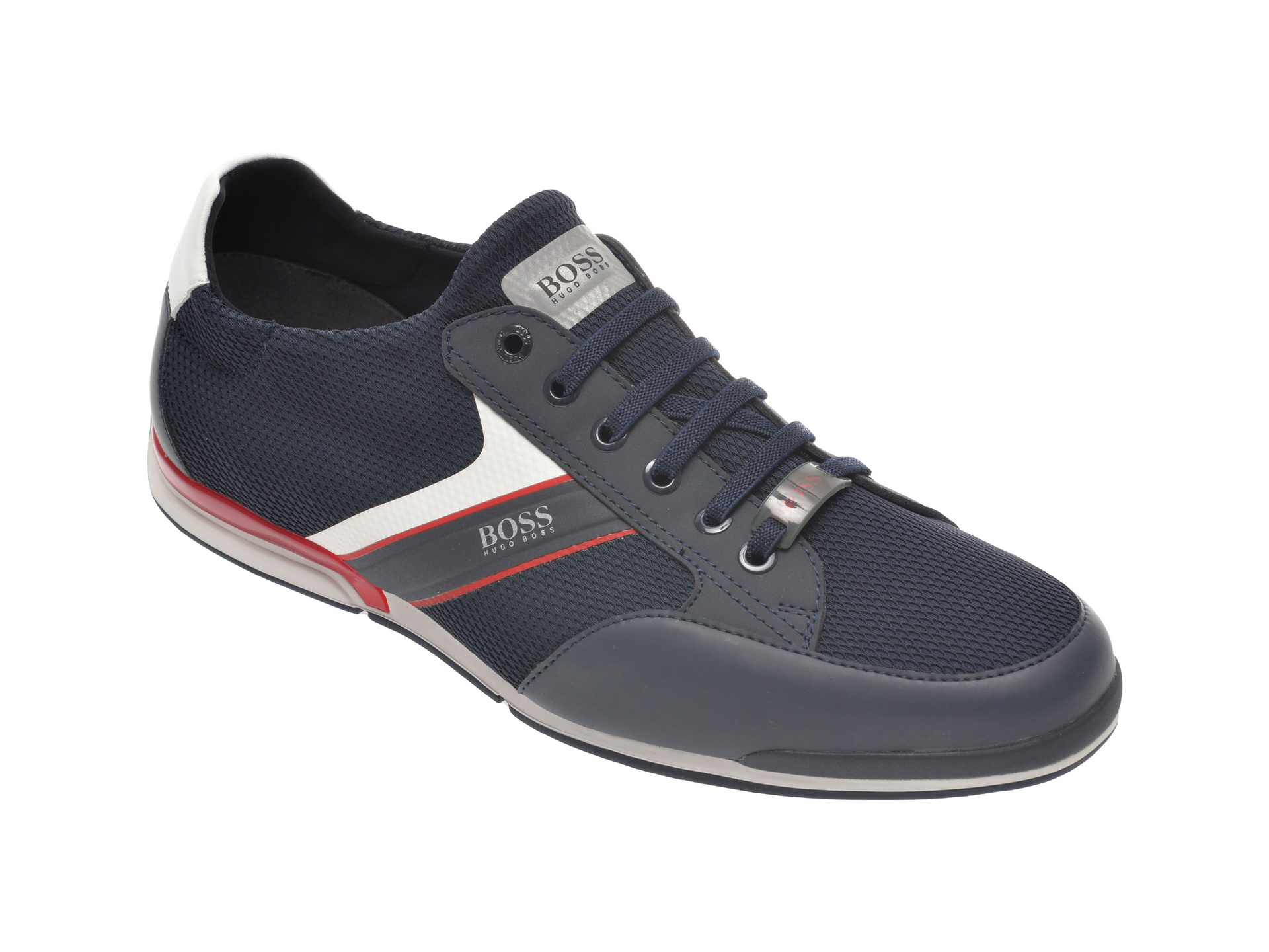 Pantofi Sport Hugo Boss Bleumarin, 8244, Din Material Textil Si Piele Ecologica
