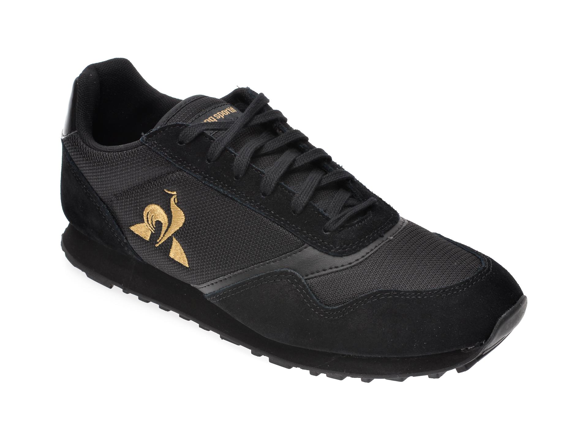 Pantofi sport LE COQ SPORTIF negri, 2010315, din material textil imagine