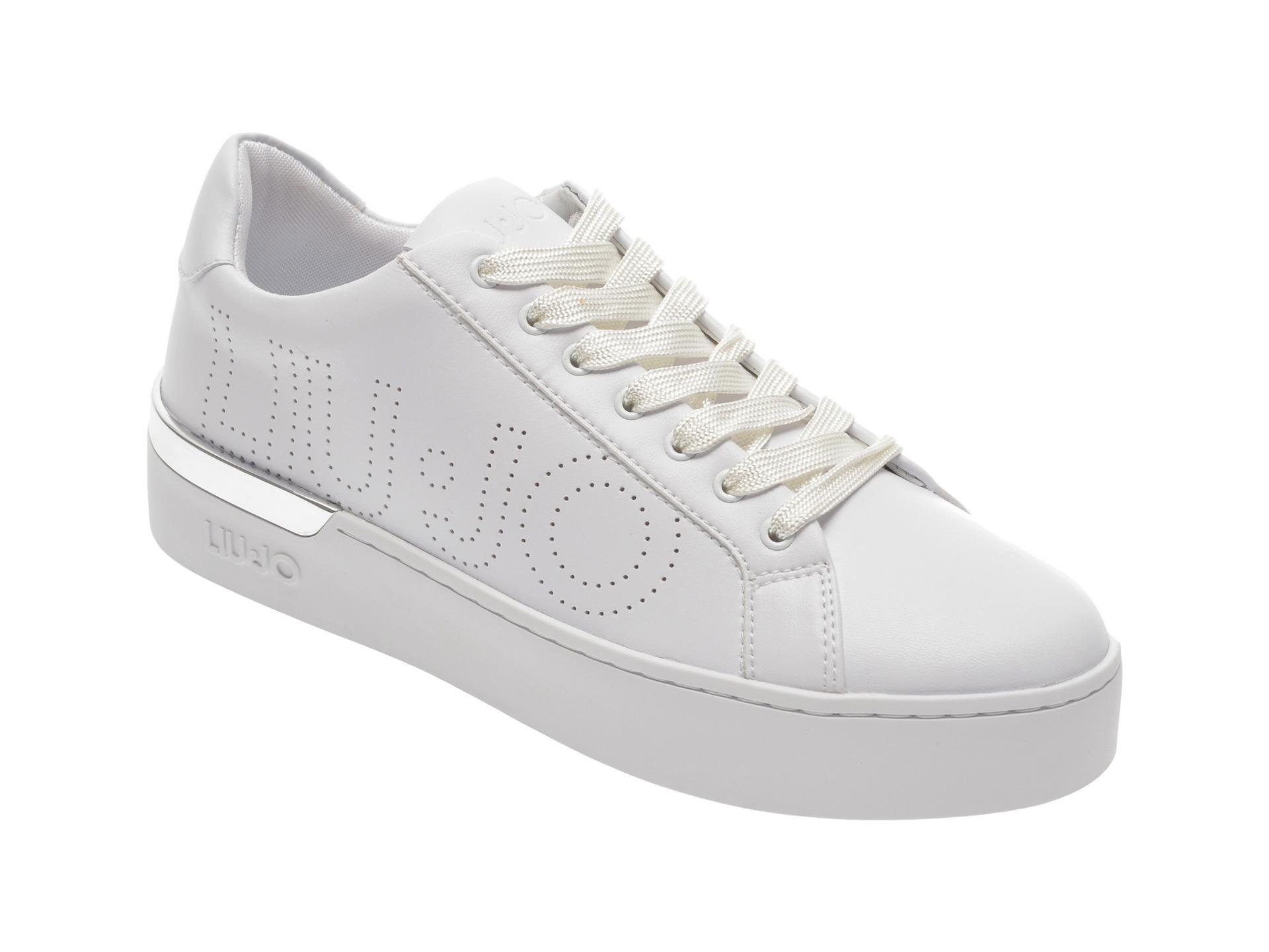 Pantofi sport LIU JO albi, SILV10, din piele ecologica