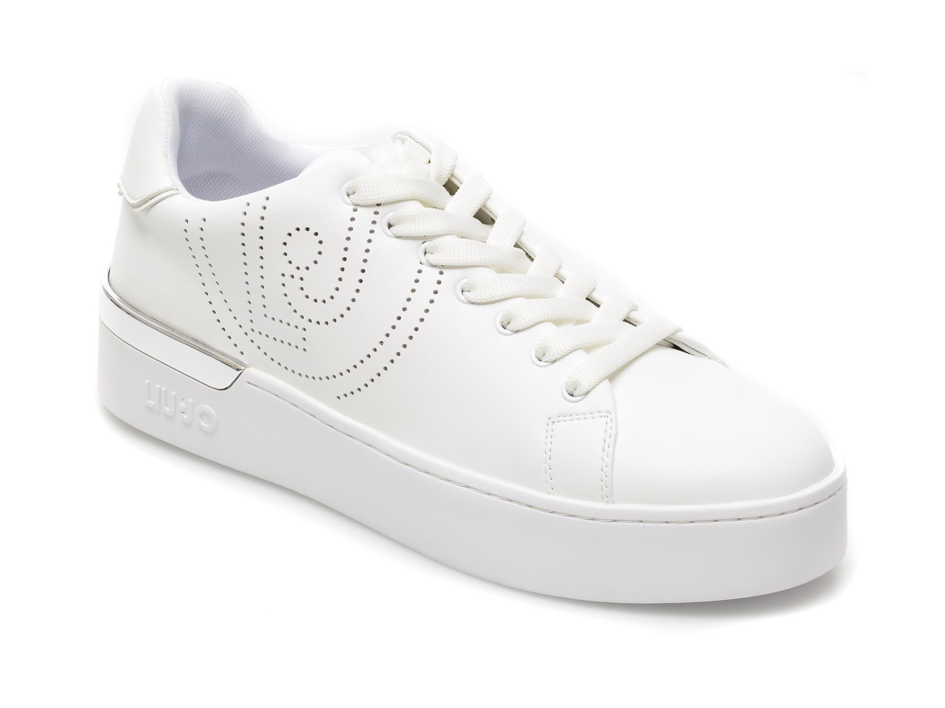 Pantofi sport LIU JO albi, Silvia 3, din piele ecologica