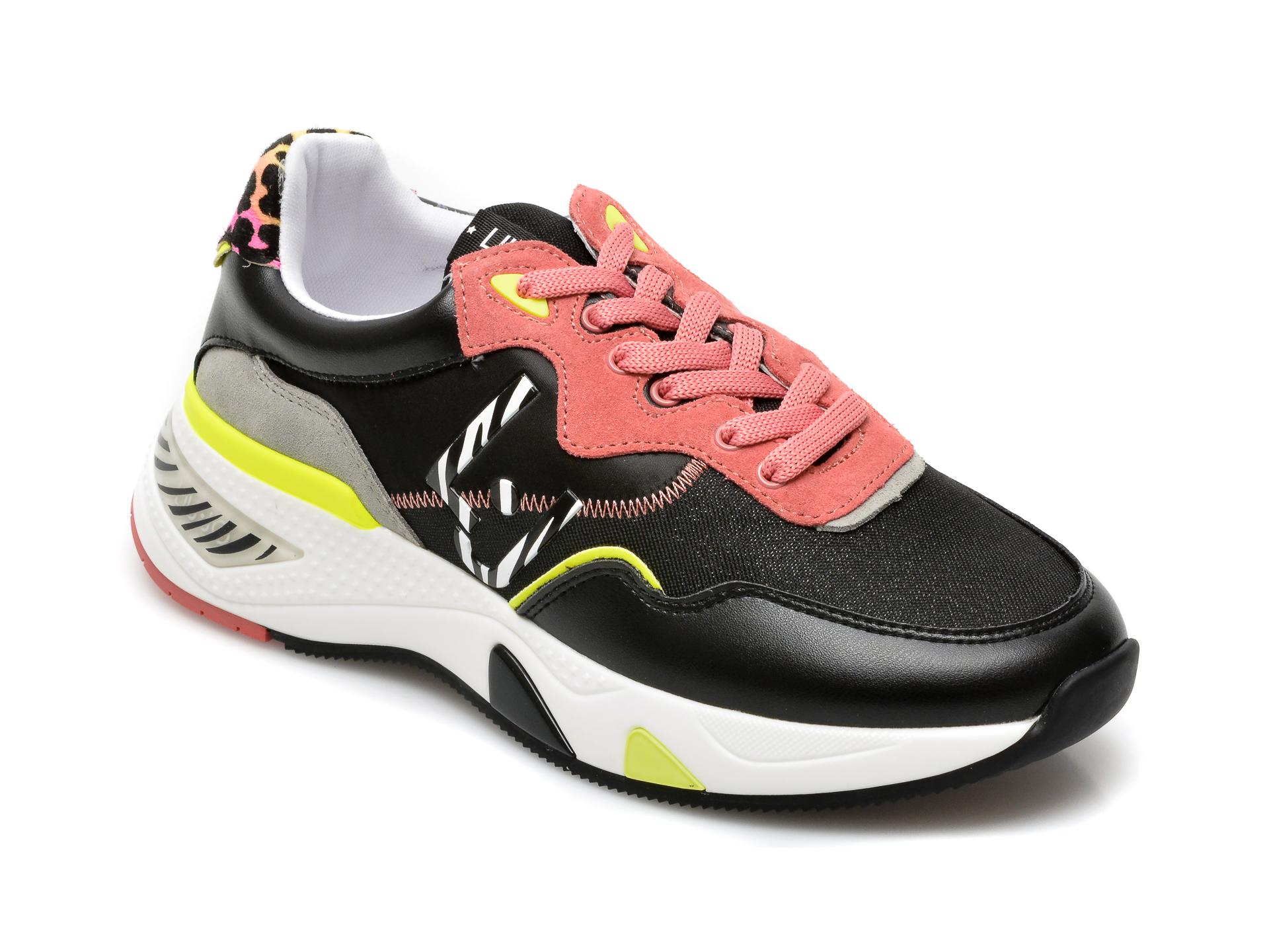 Pantofi sport LIU JO negri, Hoa 10, din material textil si piele naturala