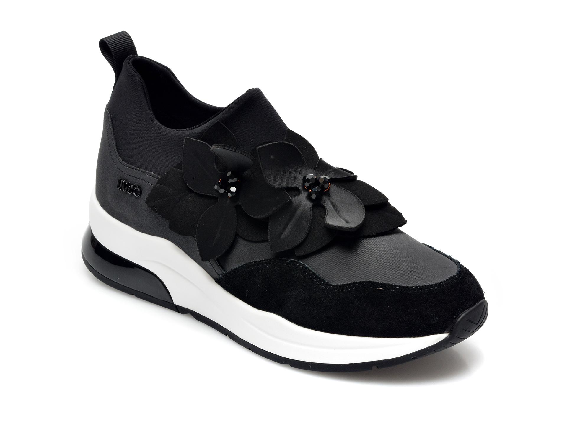 Pantofi sport LIU JO negri, Karlie 53, din material textil si piele intoarsa