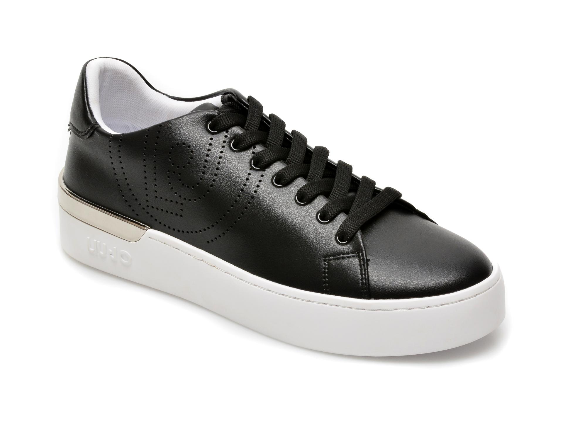 Pantofi sport LIU JO negri, Silvia 3, din piele ecologica