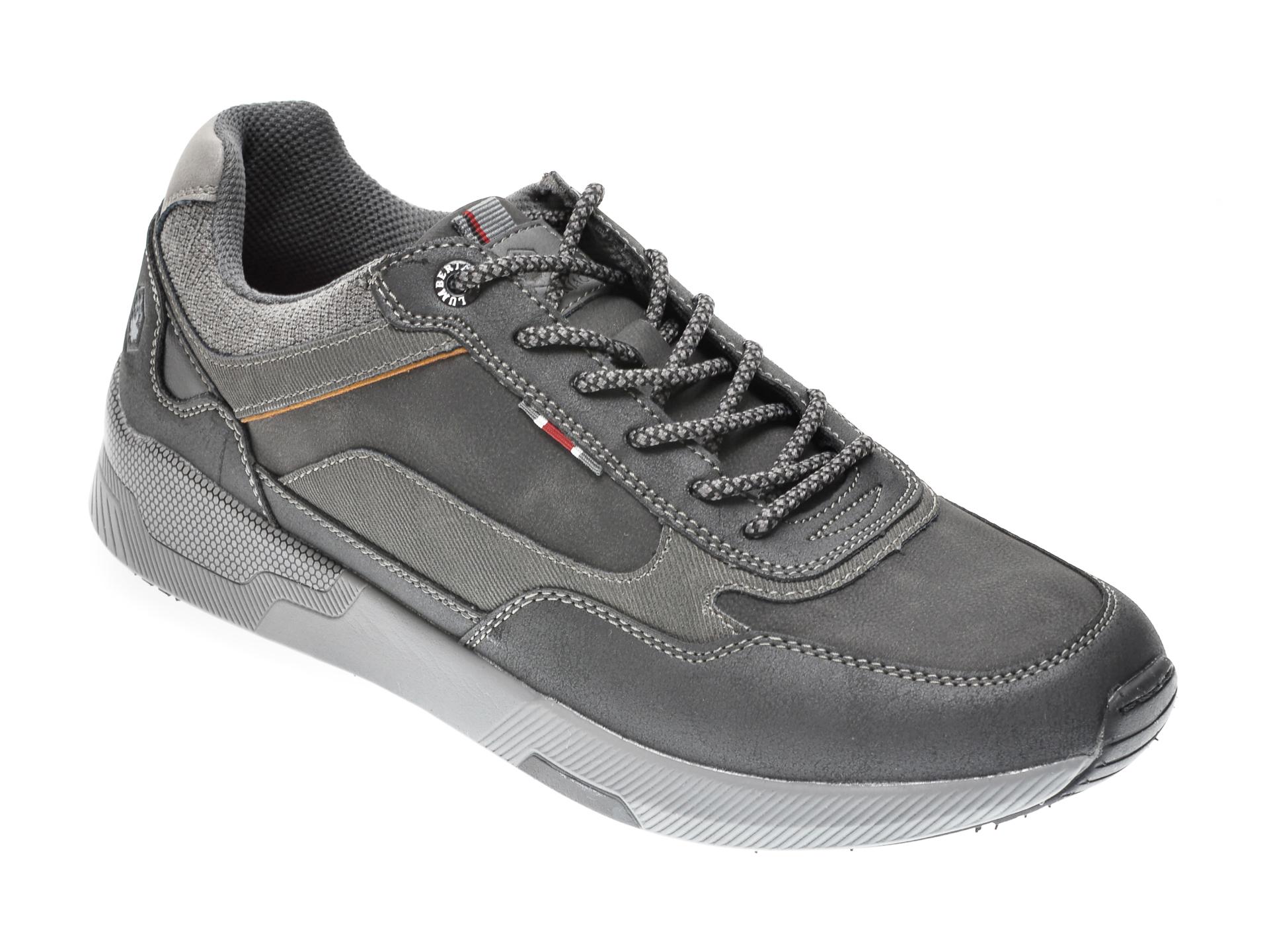 Pantofi Sport Lumberjack Negri, 412004, Din Piele Ecologica