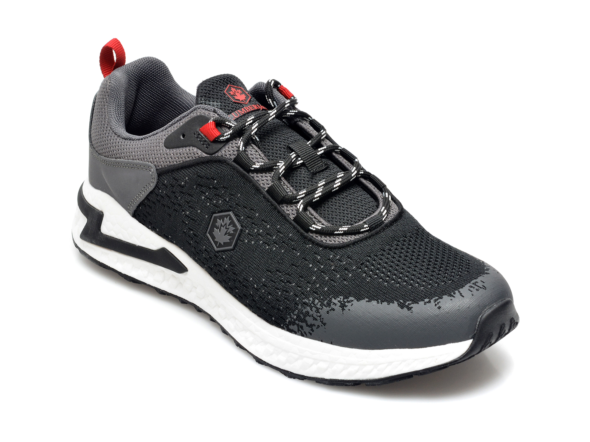 Pantofi sport LUMBERJACK negri, A301004, din material textil