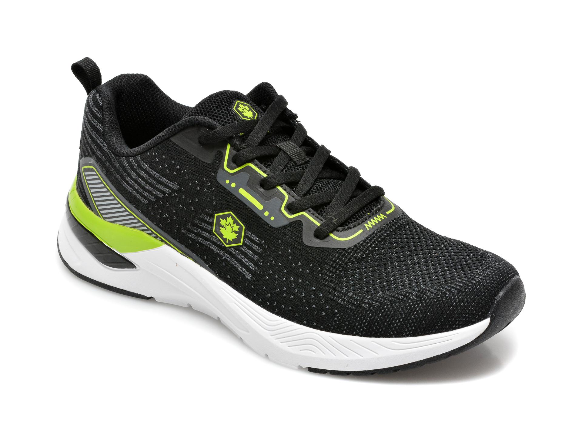Pantofi sport LUMBERJACK negri, B051002, din material textil