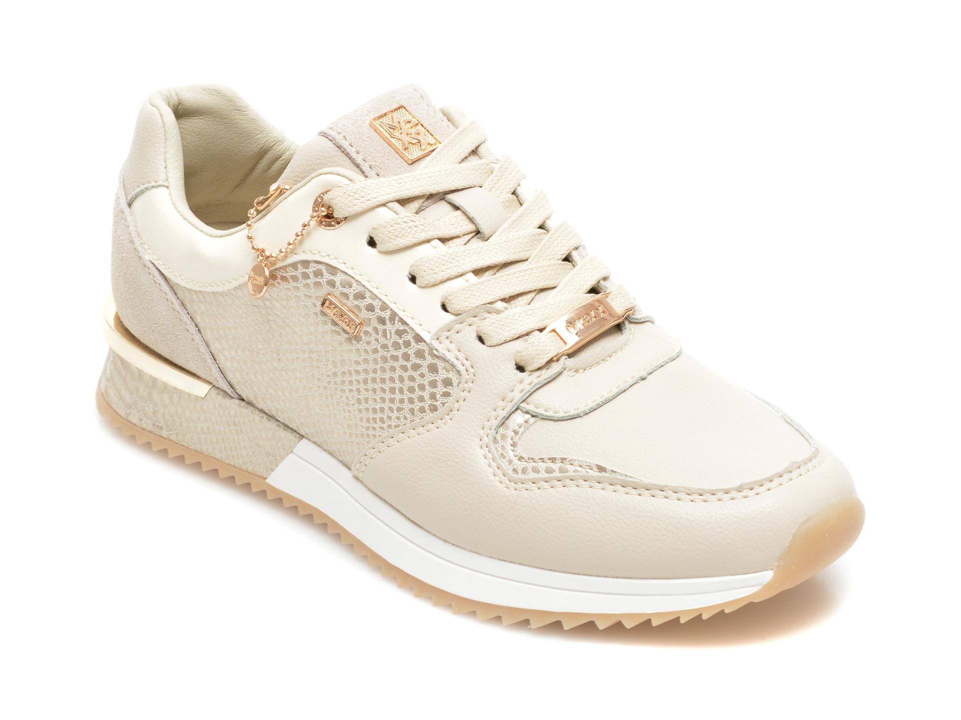Pantofi sport MEXX bej, K0189, din piele ecologica