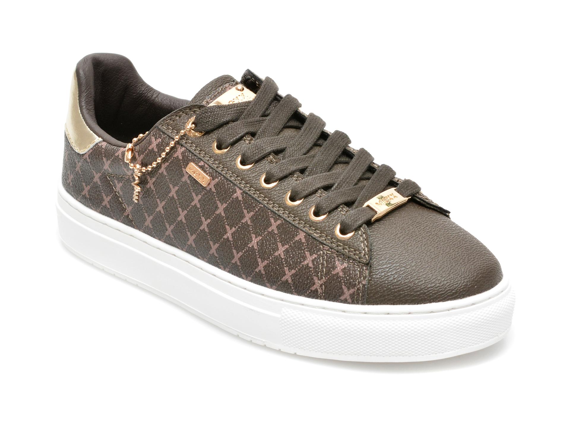 Pantofi sport MEXX maro, QP0318, din piele ecologica
