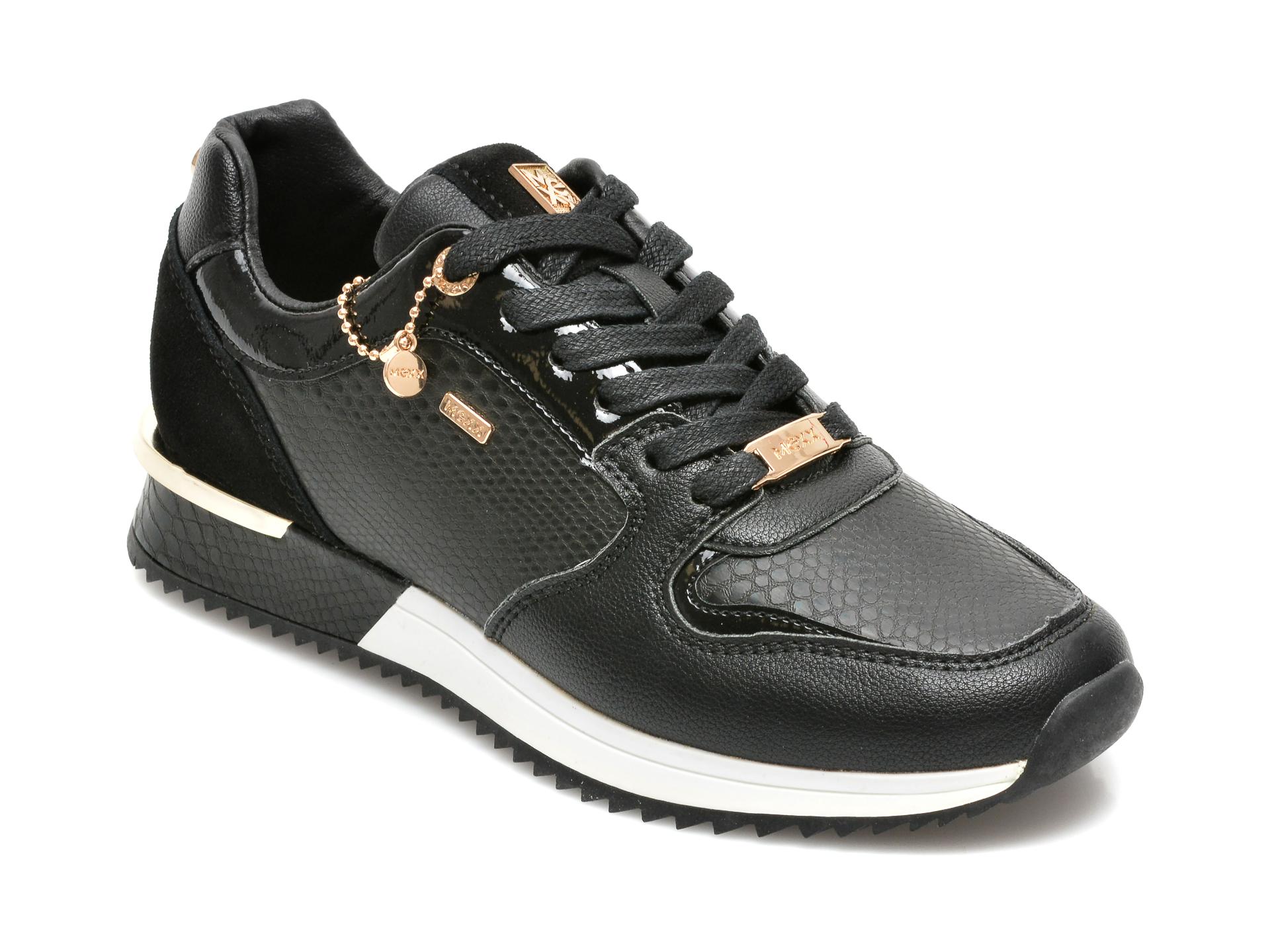 Pantofi sport MEXX negri, K0189, din piele ecologica