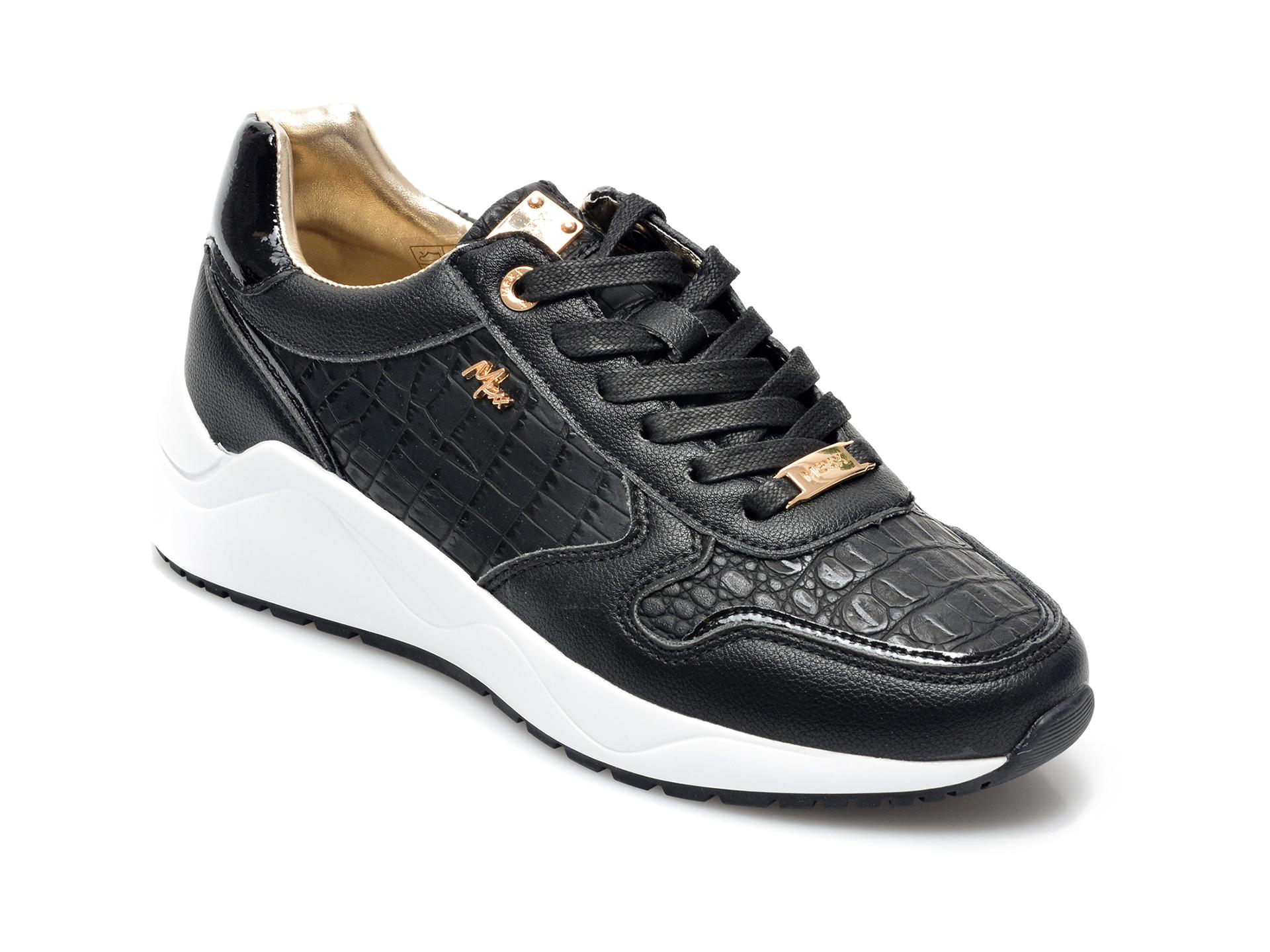 Pantofi sport MEXX negri, K0219, din piele ecologica
