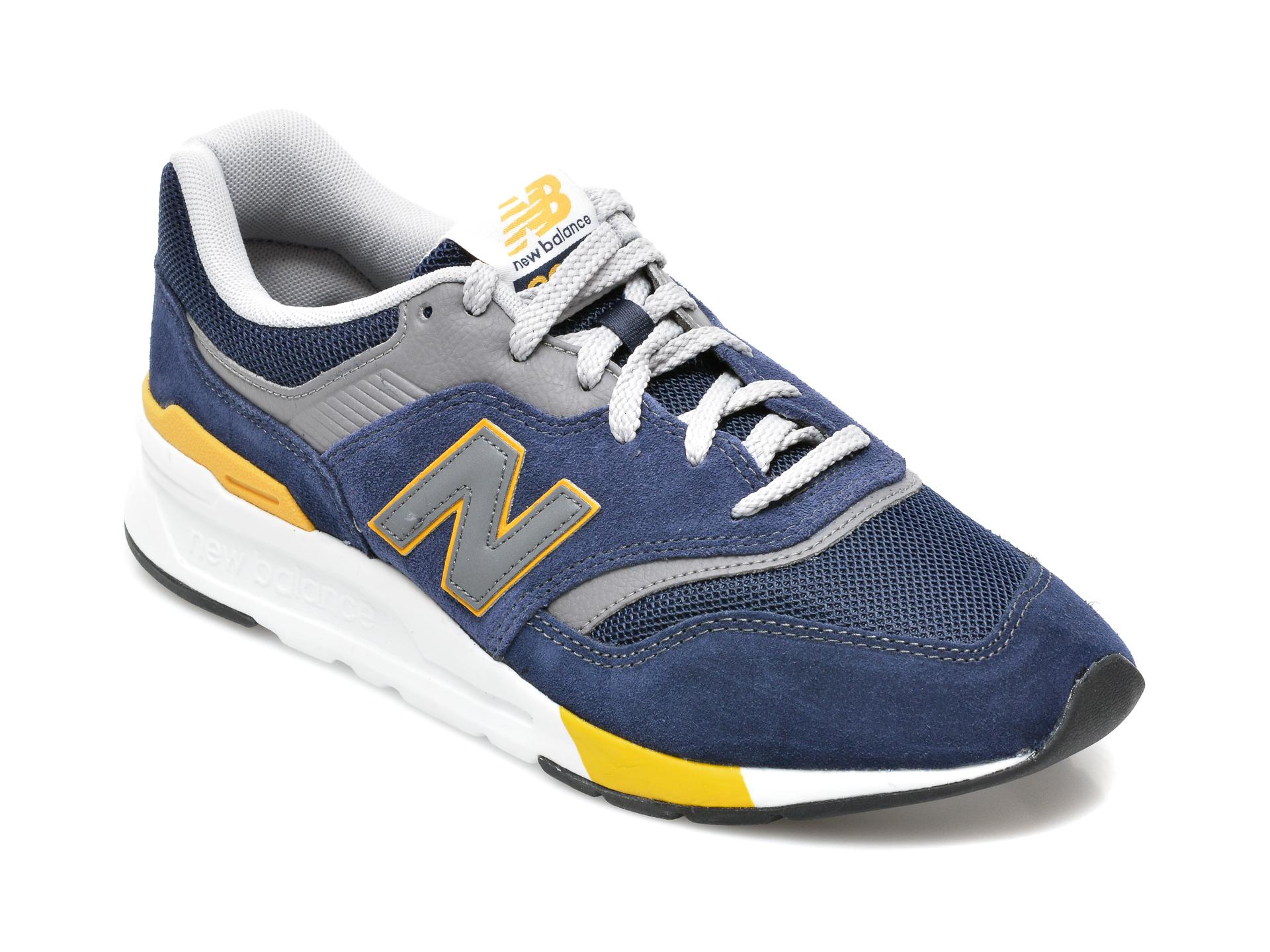 Pantofi sport NEW BALANCE negri, CM997, din material textil si piele intoarsa