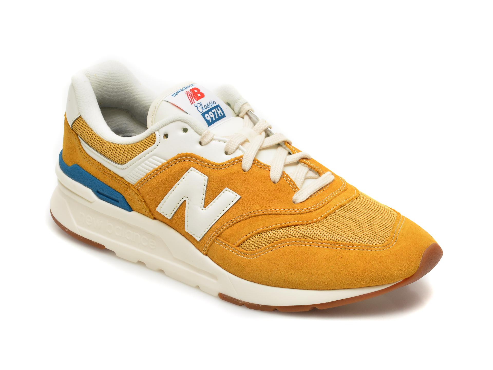 Pantofi sport NEW BALANCE galbeni, CM997, din piele intoarsa