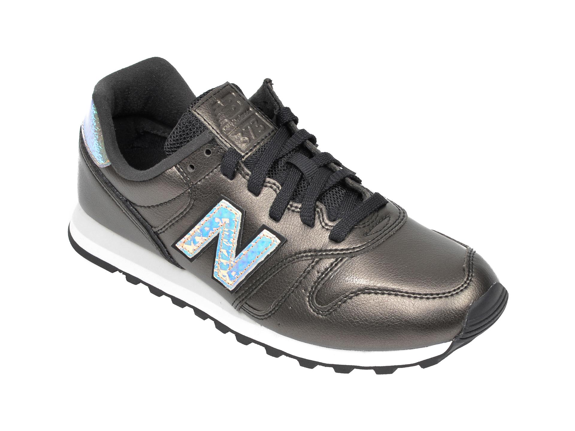 Pantofi sport NEW BALANCE gri, WL373, din material textil si piele natural