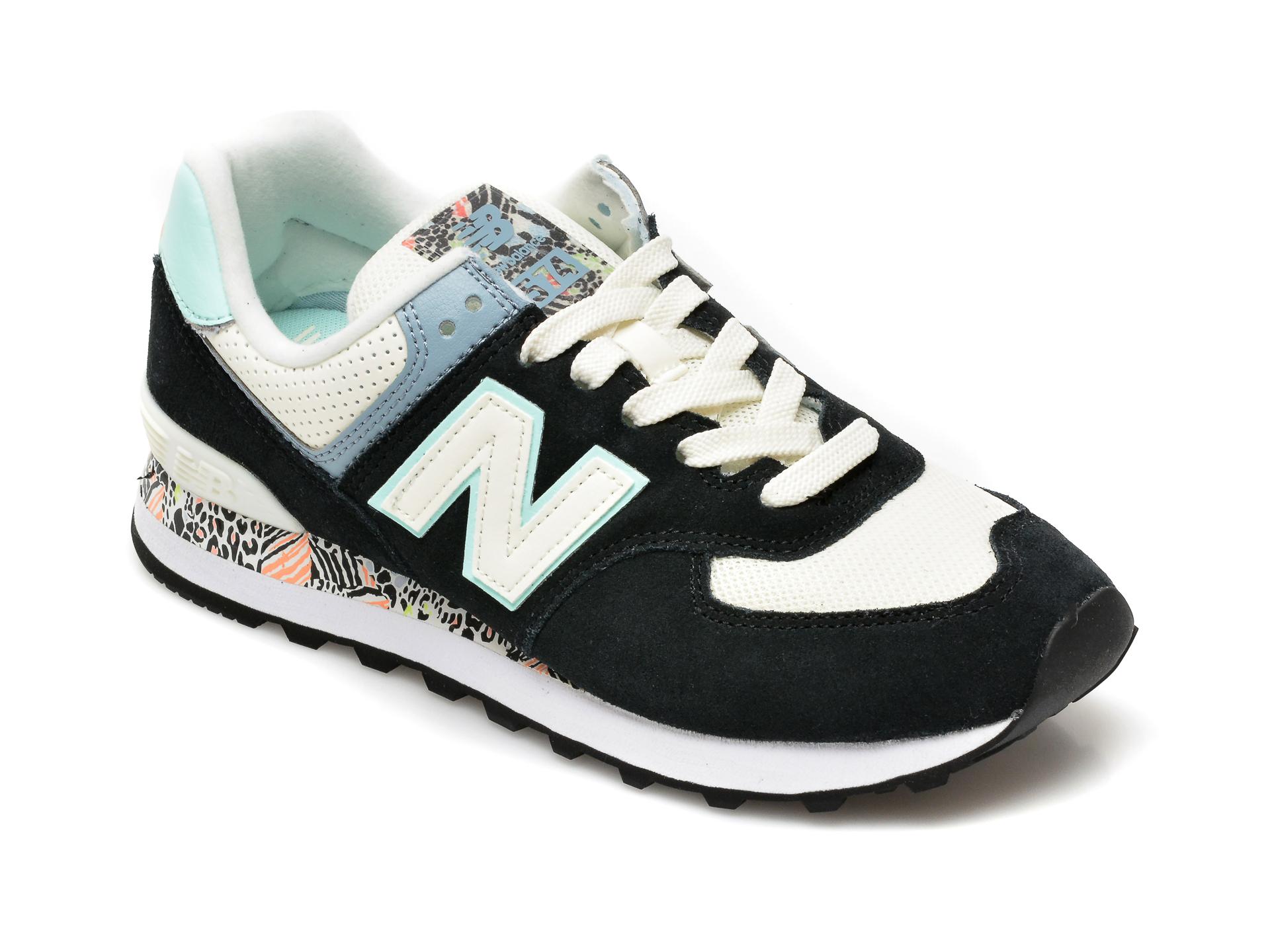 Pantofi sport NEW BALANCE galbeni, ML574, din material textil si piele intoarsa