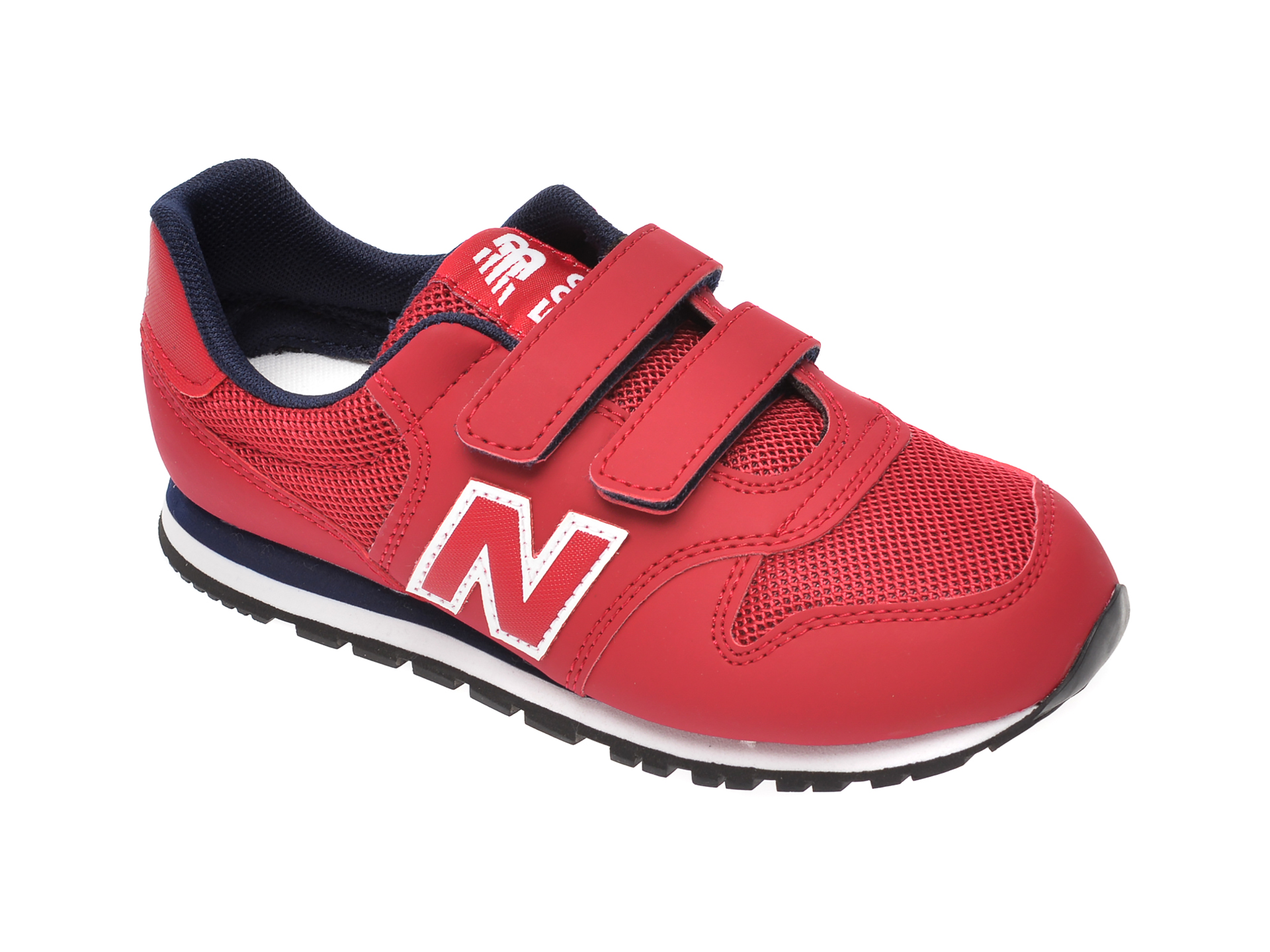 Pantofi sport NEW BALANCE rosii, YV500, din piele ecologica si material textil