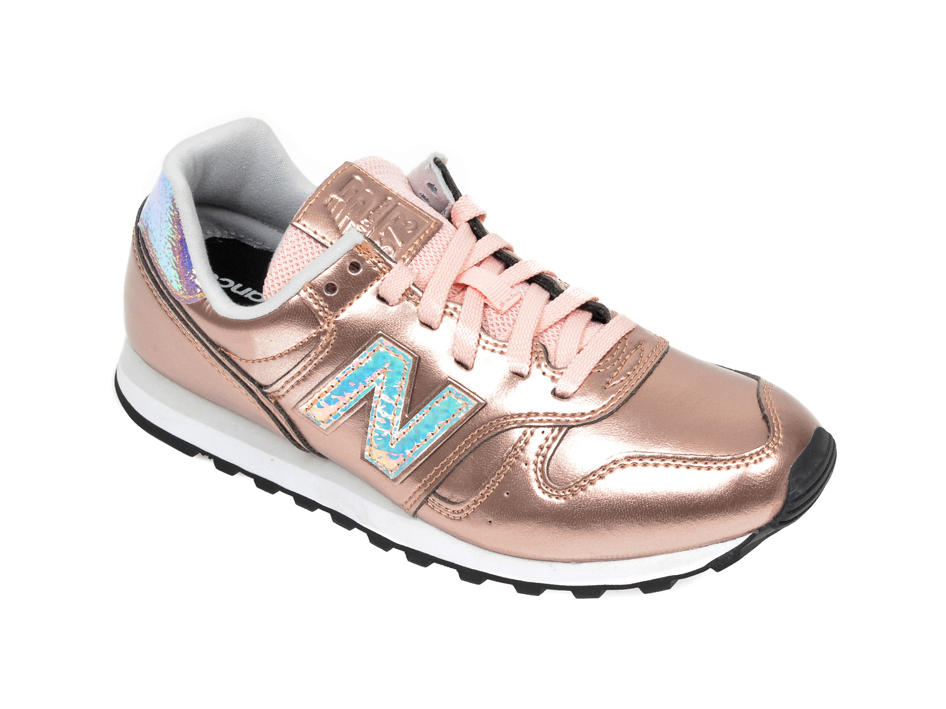Pantofi sport NEW BALANCE sport aurii, WL373, din piele ecologica
