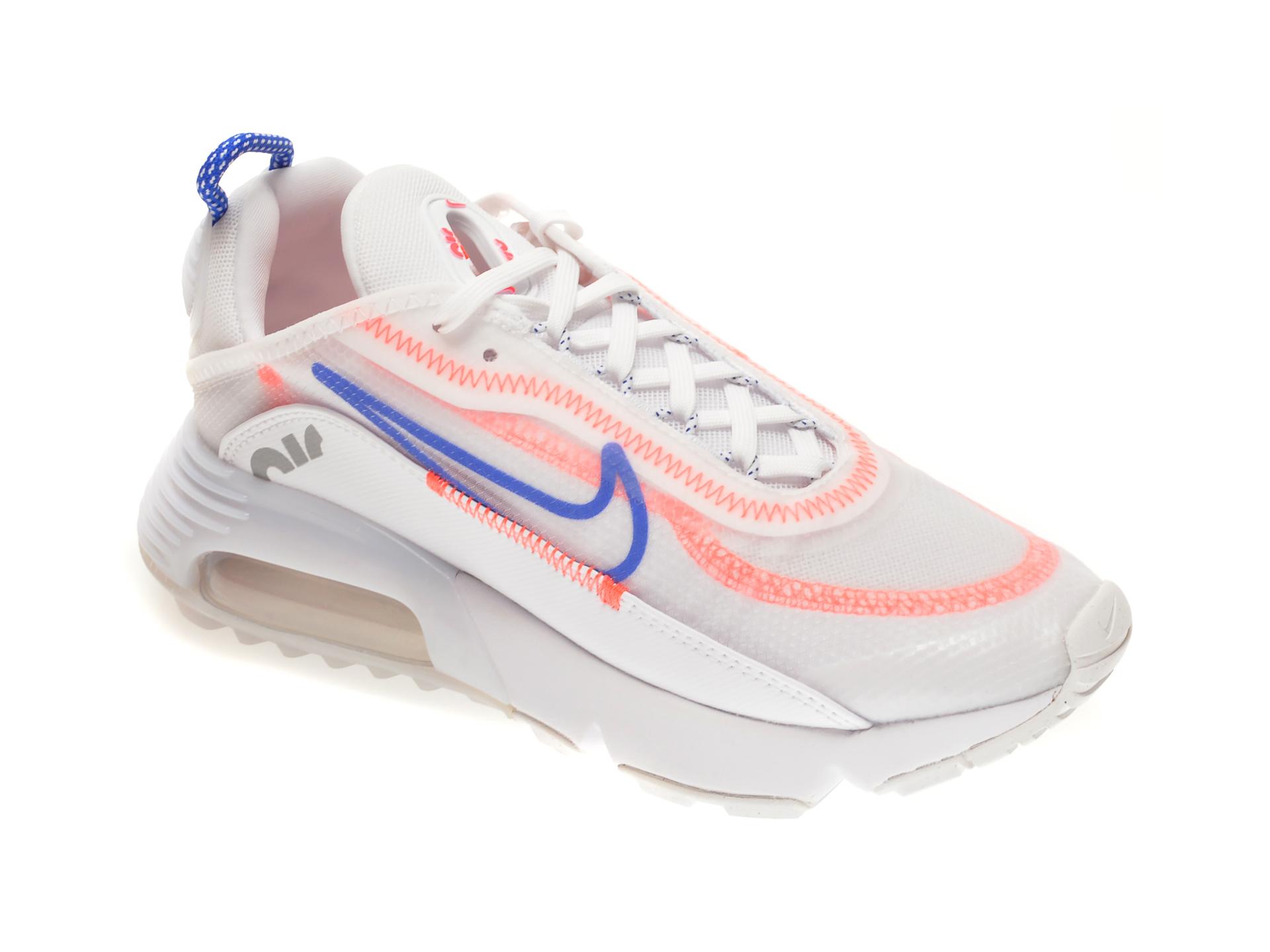 Pantofi sport NIKE albi, W AIR MAX 2090, din material textil