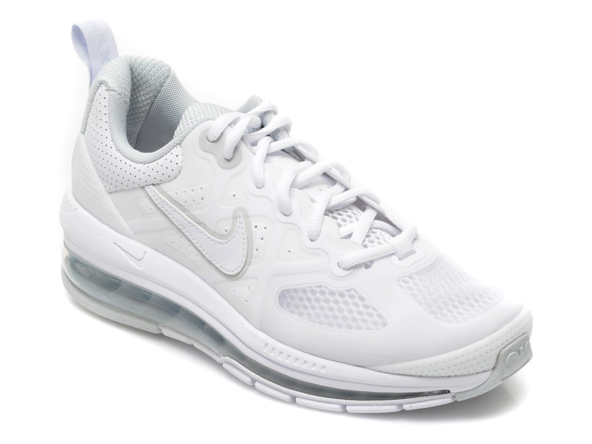 Pantofi sport NIKE albi, CZ1645, din material textil si piele ecologica