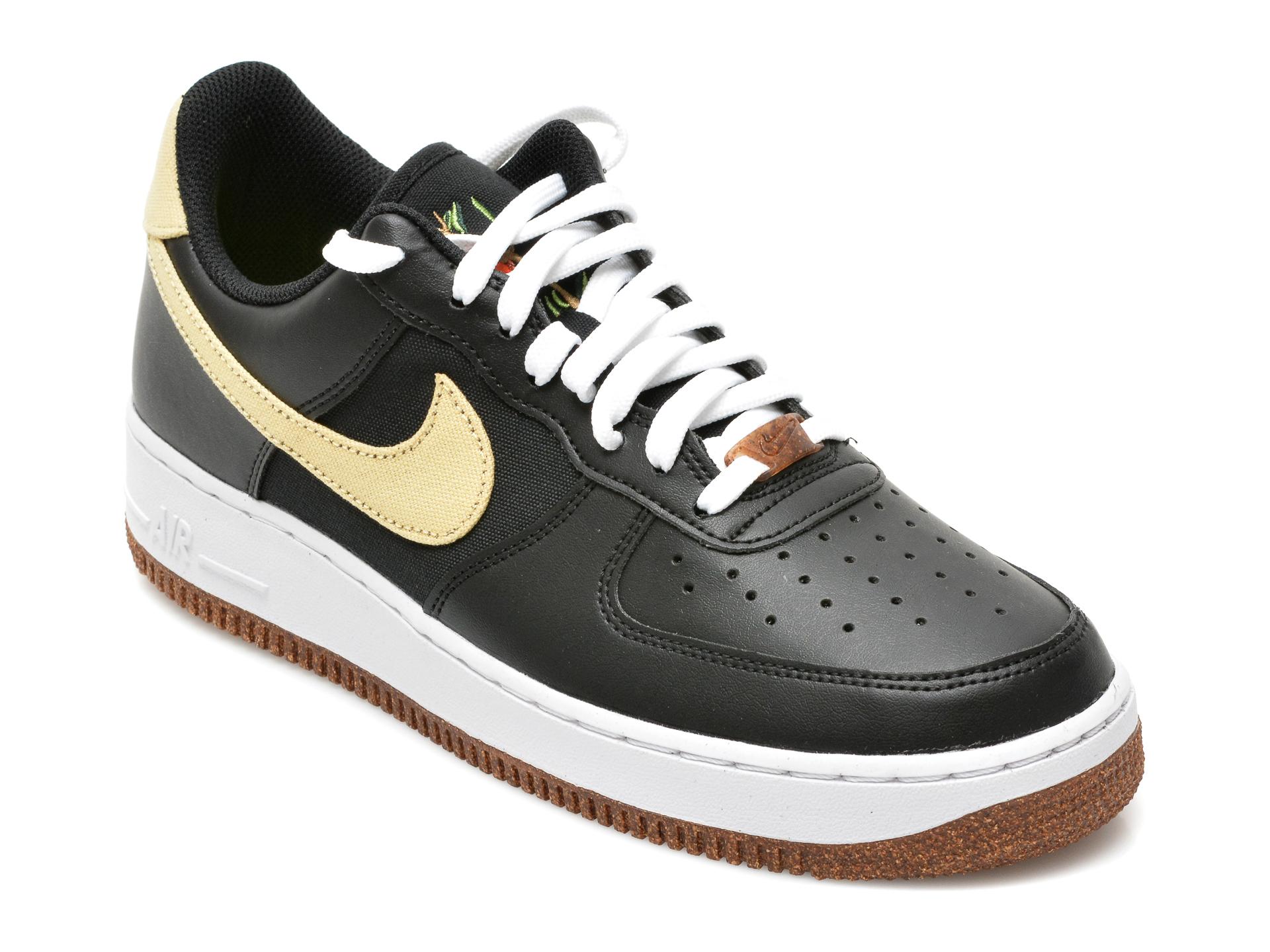 Pantofi sport NIKE negri, CZ0338, din piele ecologica