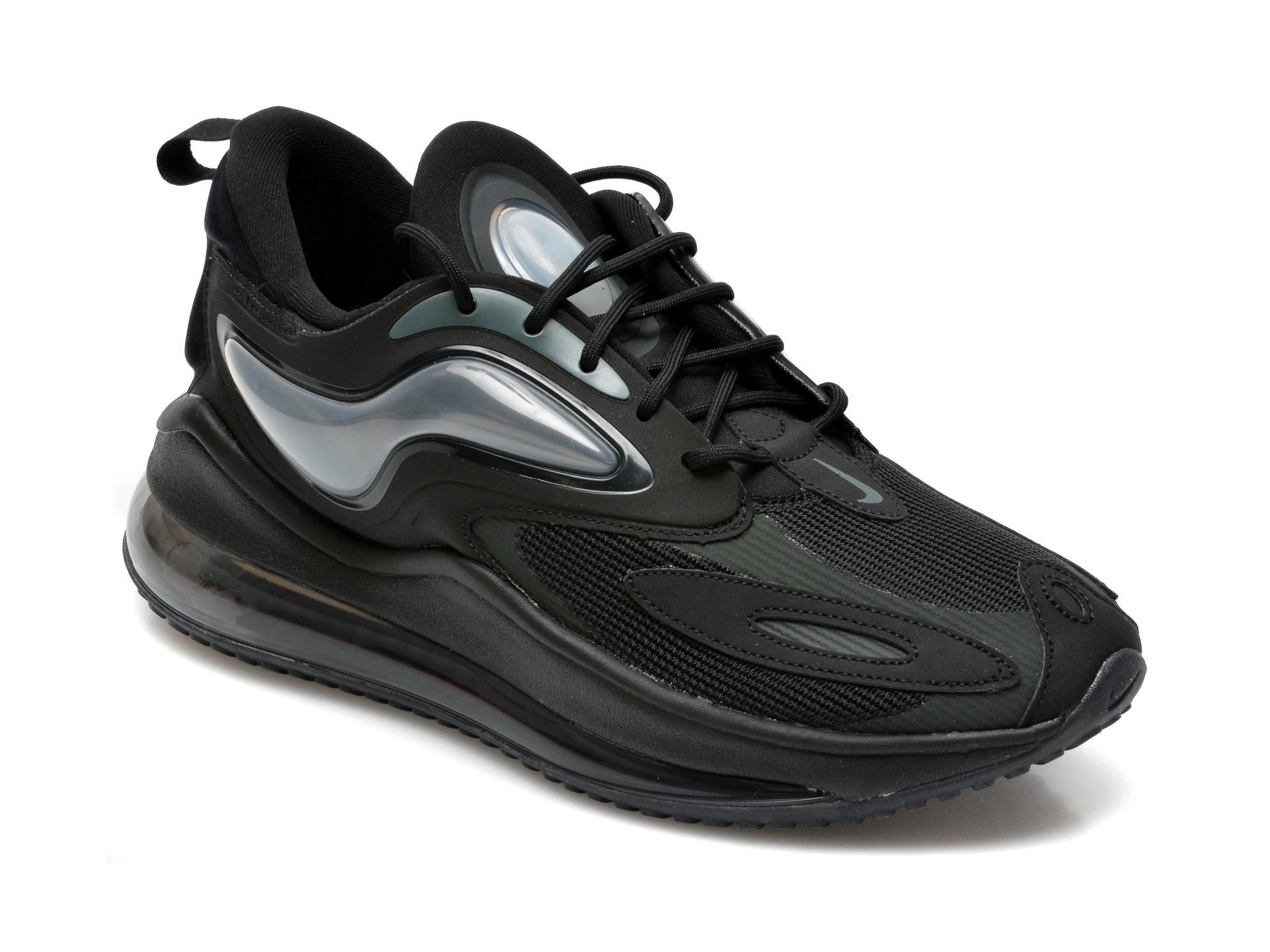 Pantofi sport NIKE negri, Air Max Zephyr, din material textil si piele ecologica
