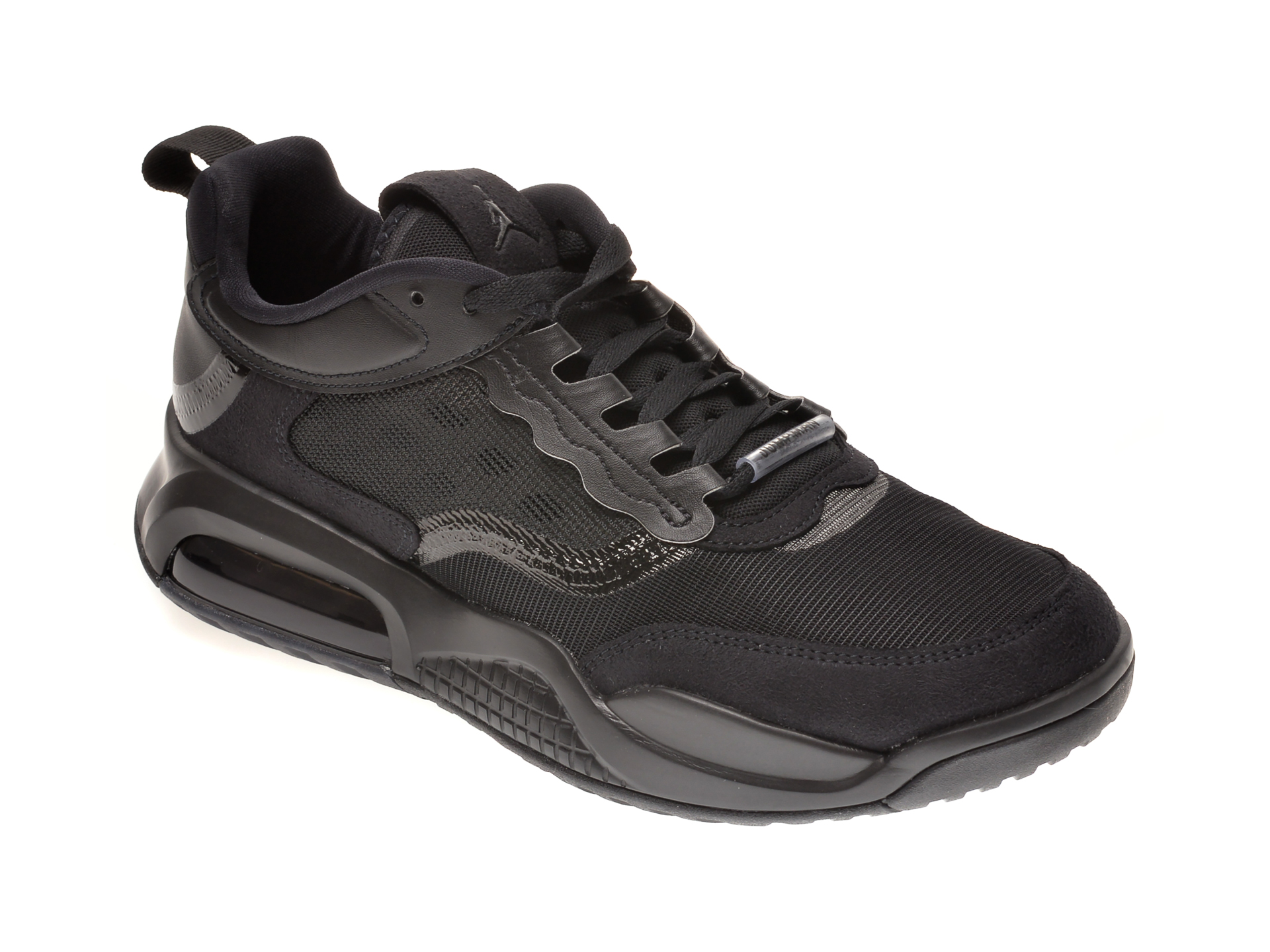 Pantofi sport NIKE negri, JORDAN MAX 200, din material textil si piele ecologica