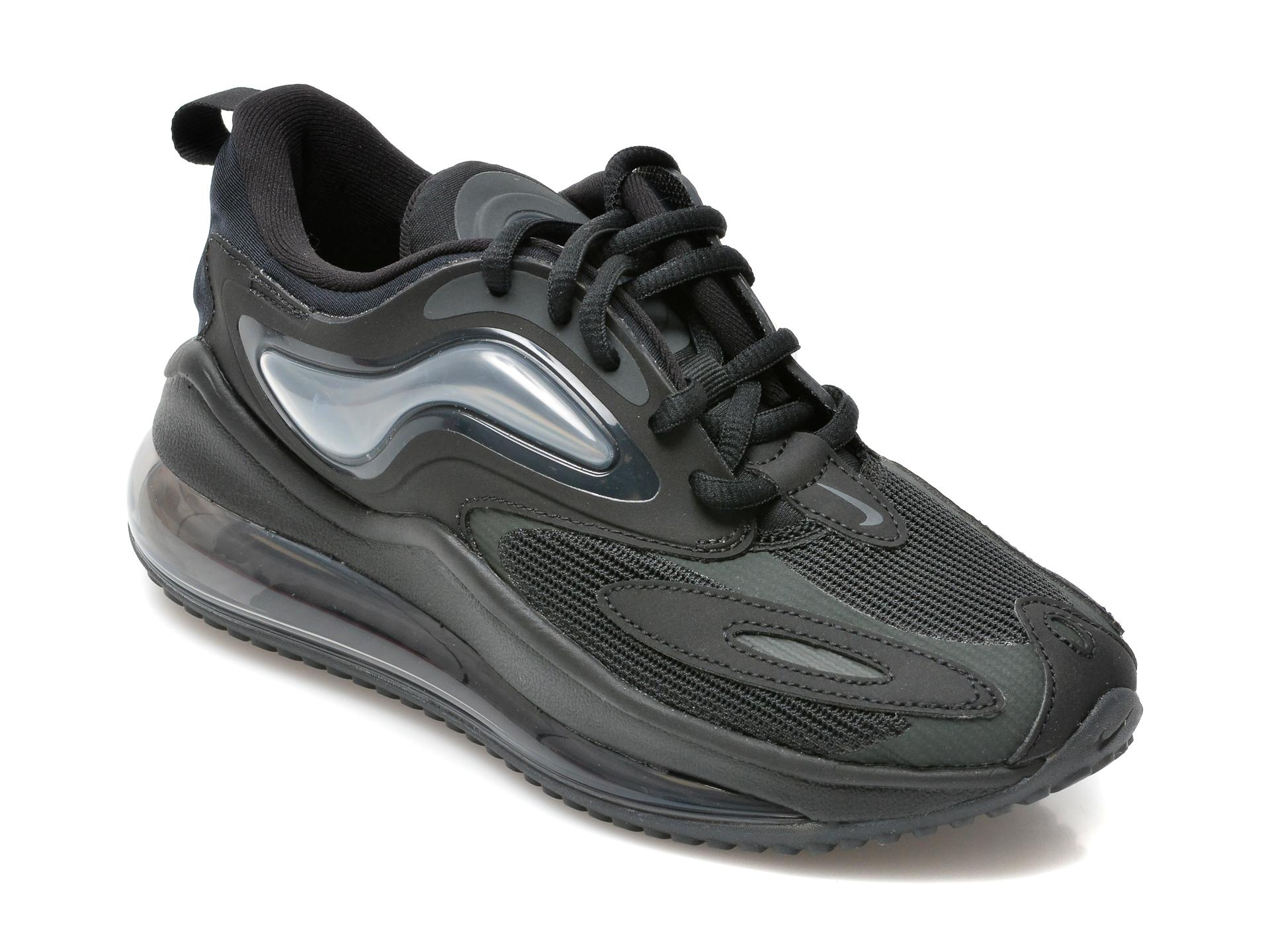 Pantofi sport NIKE negri, Nike Air Max Zephyr (Gs), din material textil si piele ecologica