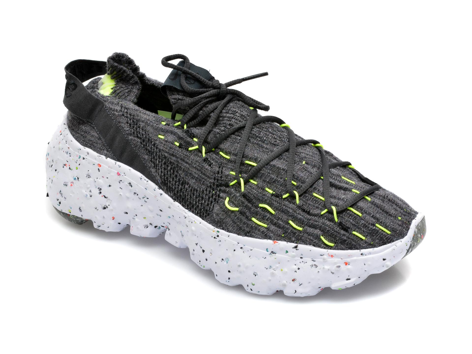 Pantofi sport NIKE negri, Nike Space Hippie 04, din material textil