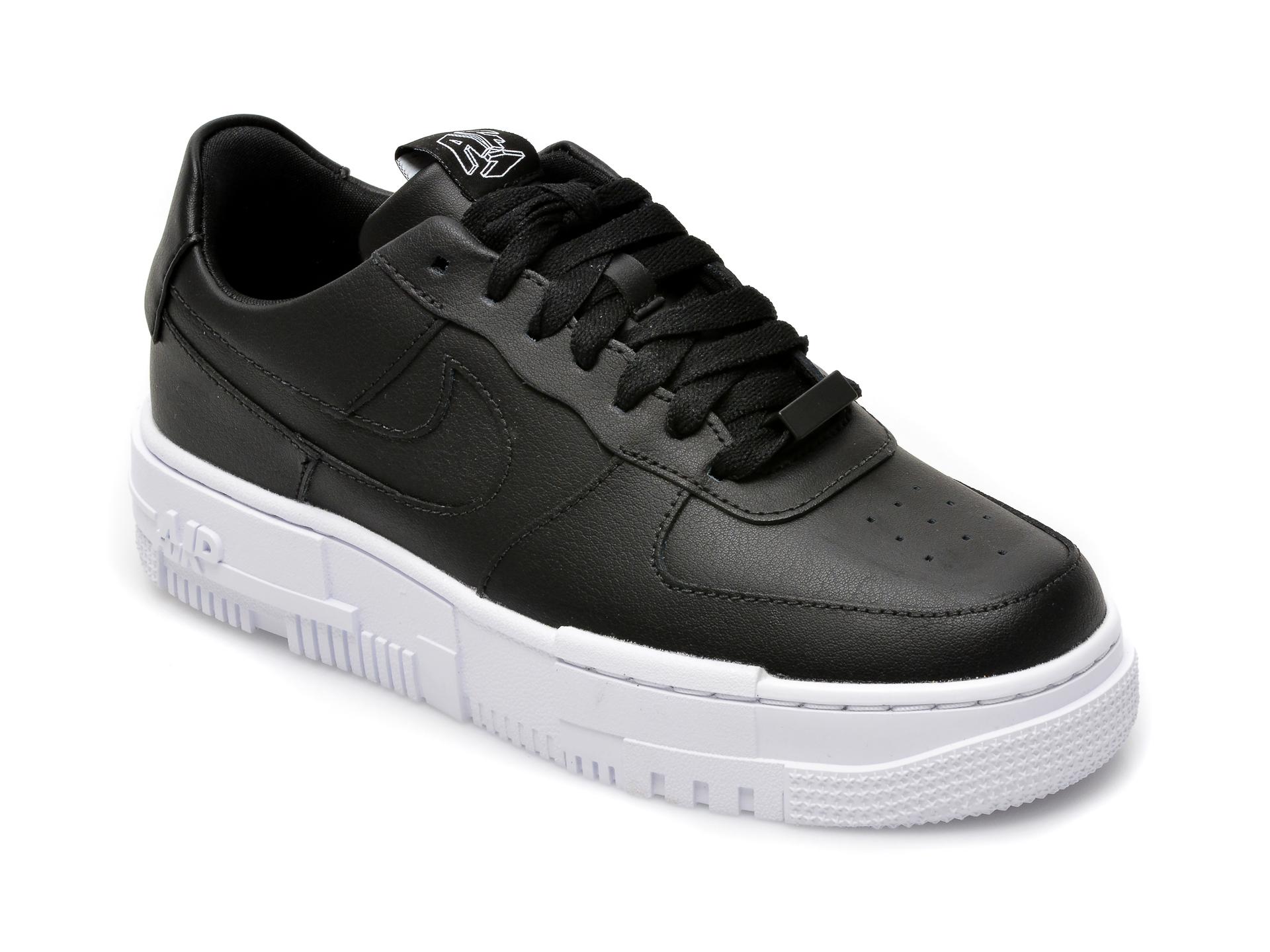 Pantofi sport NIKE negri, W Af1 Pixel, din piele naturala