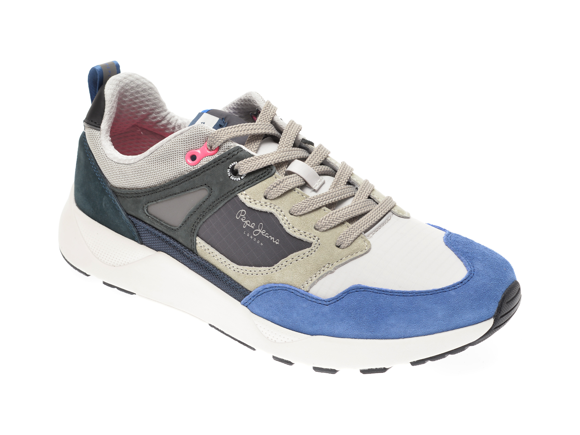 Pantofi Sport Pepe Jeans Albastri, Ms30598, Din Material Textil