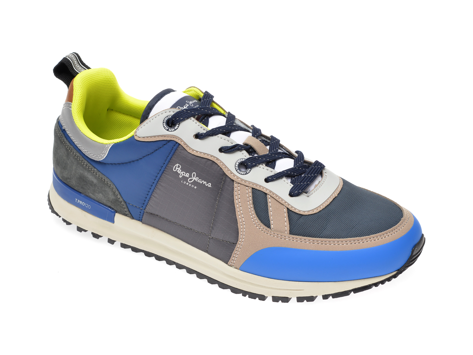 Pantofi sport PEPE JEANS albastri, MS30622, din piele naturala
