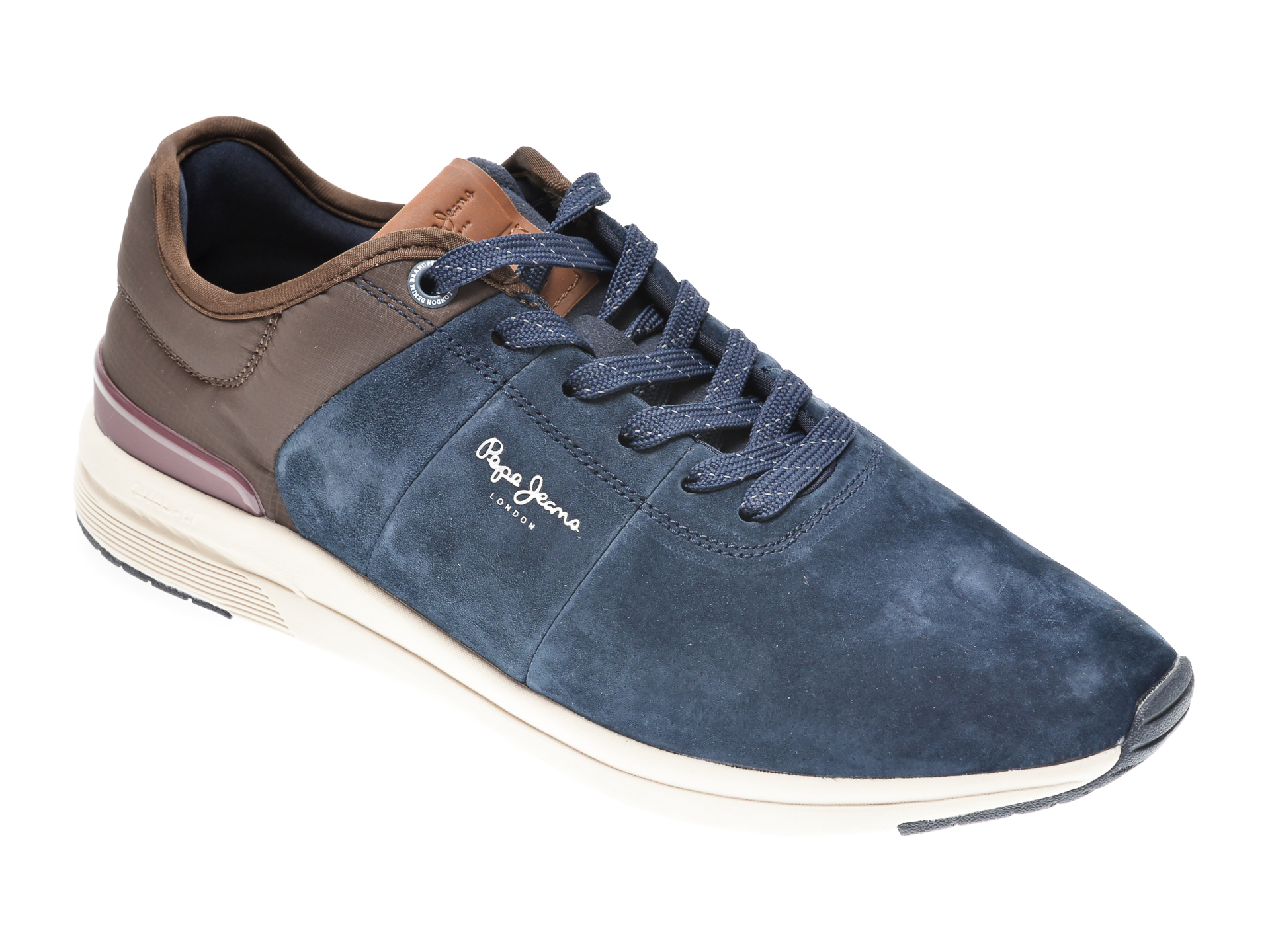 Pantofi sport PEPE JEANS albastri, MS30638, din piele intoarsa