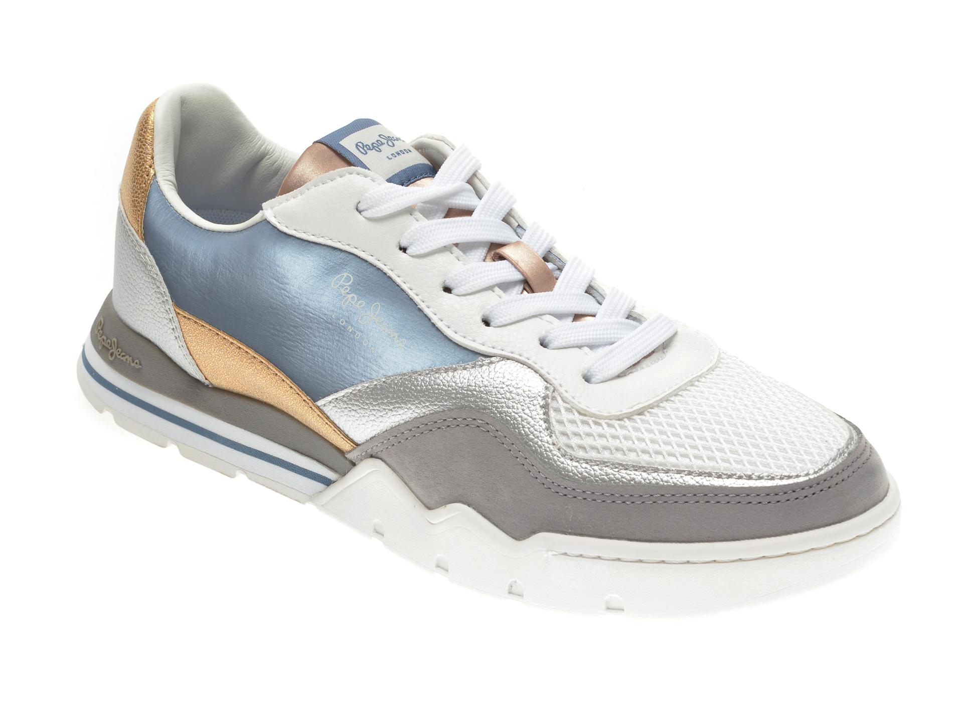Pantofi Sport Pepe Jeans Albi, Ls31031, Din Material Textil Si Piele Ecologica